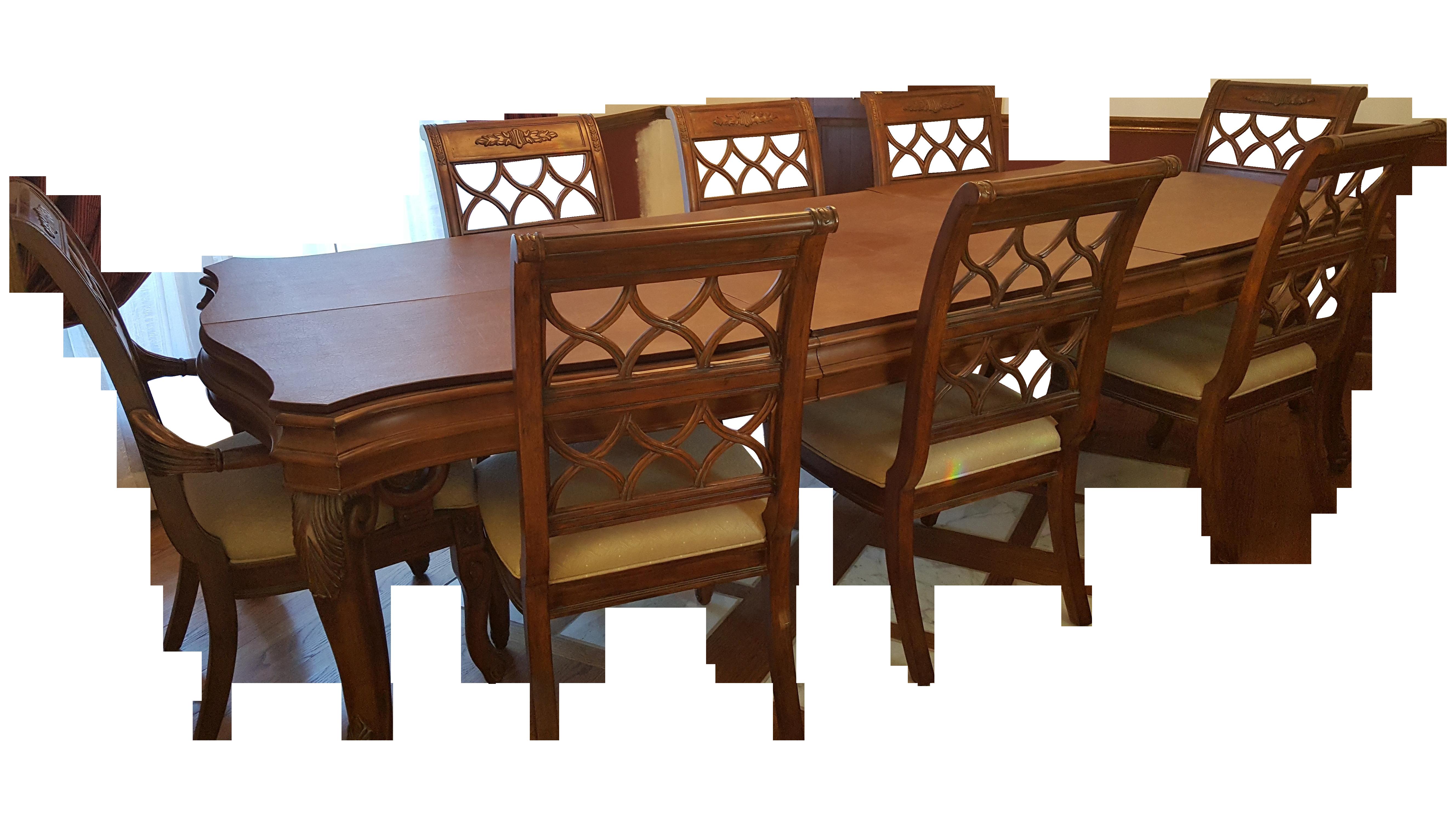drexel heritage talavera dining set | chairish
