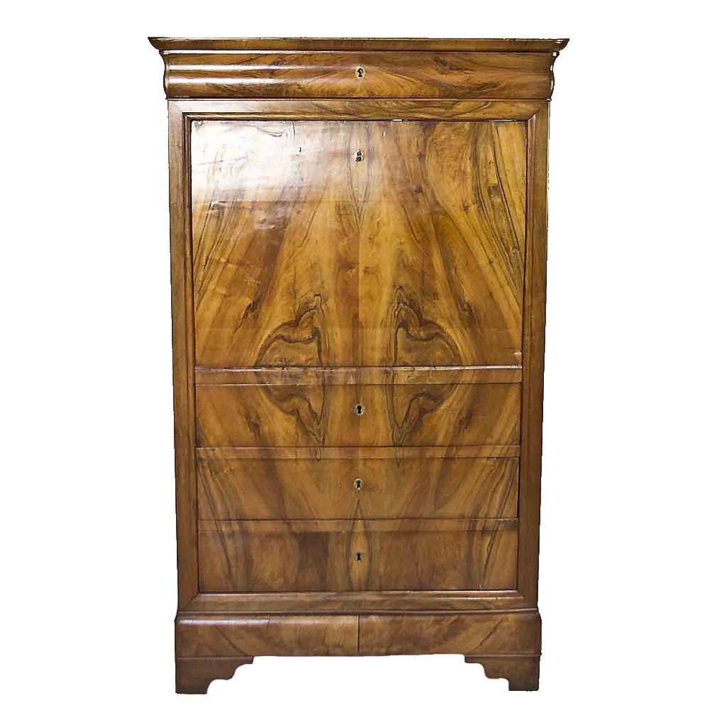 Antique 19th Century French Walnut Secretary Desk Chairish