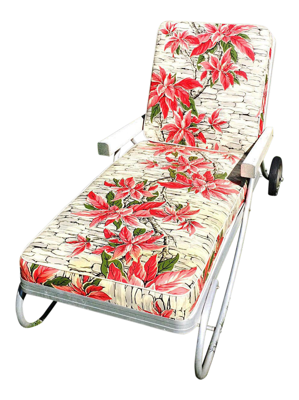 Chaise Lounge Patio Furniture Repair: Vintage Bunting Aluminum Chaise Lounge Patio Chair