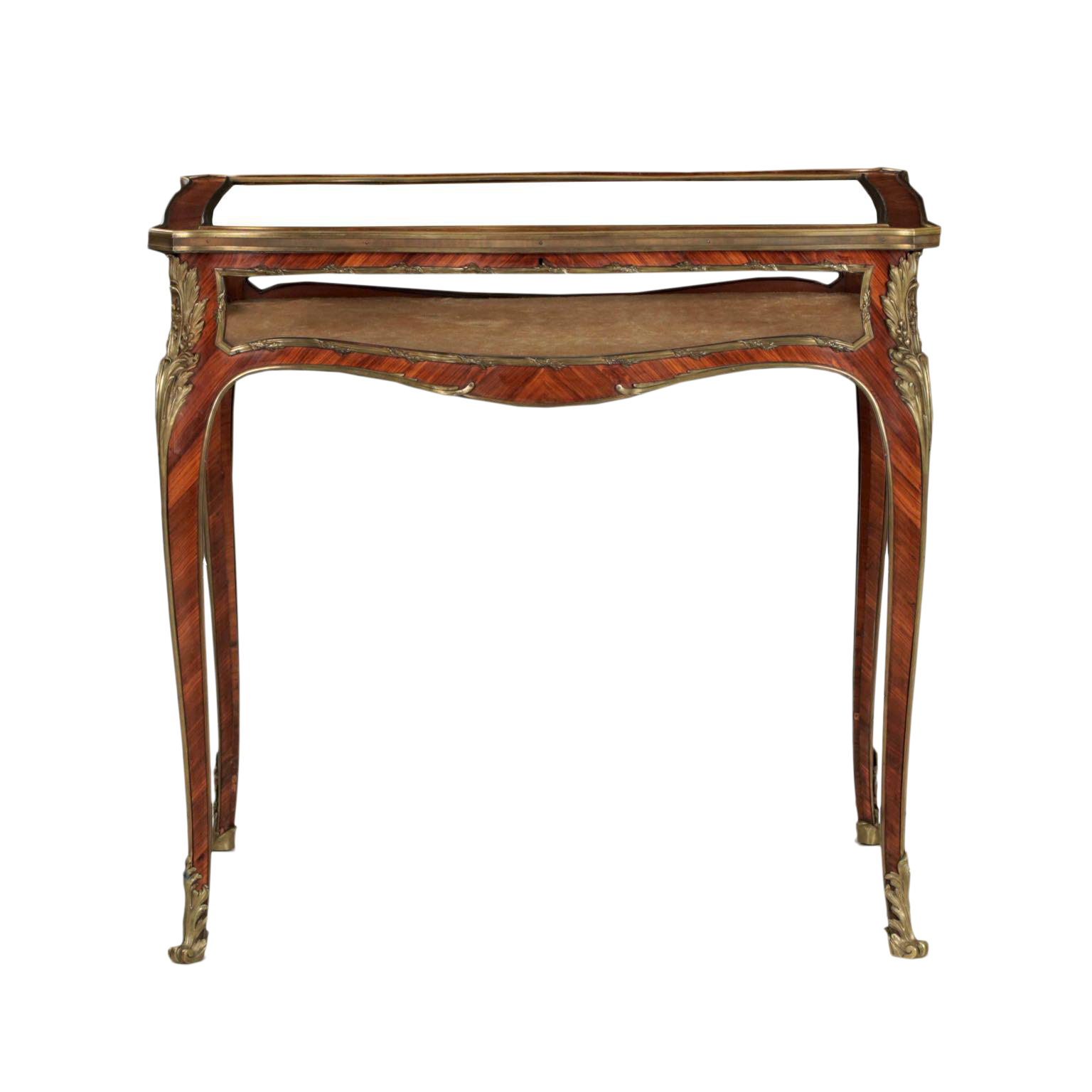 19th Century French Antique Bronze Side Table w  Vitrine Display Case. Vintage   Used Cabinets   Chairish