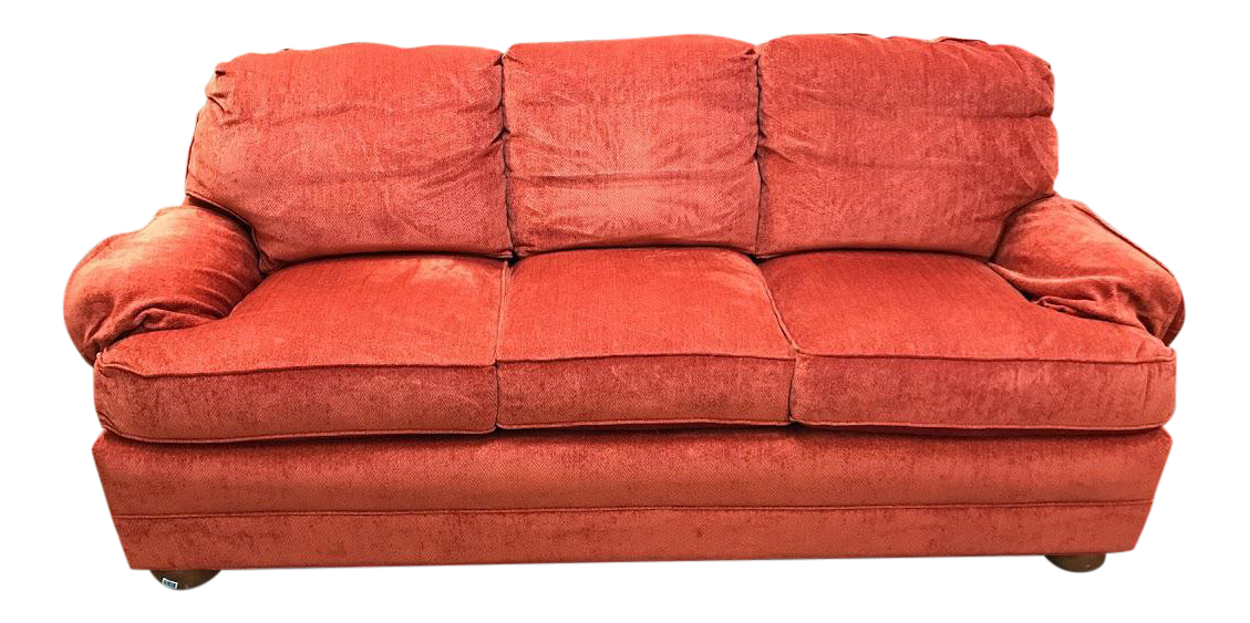 Salmon 3 Cushion Sofa Loveseat Set Chairish