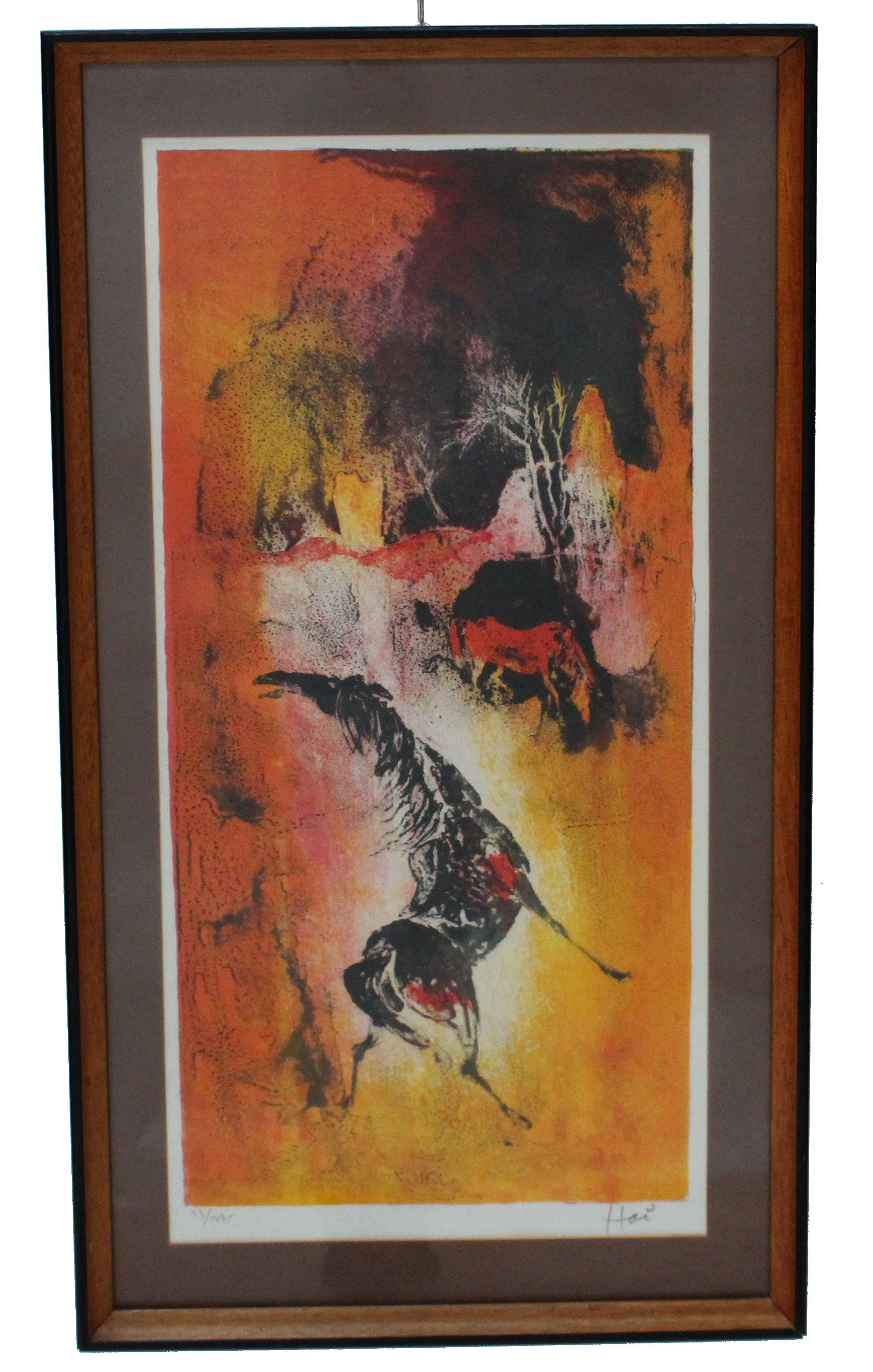 Horse By Hoi Lebadang Lithograph Chairish