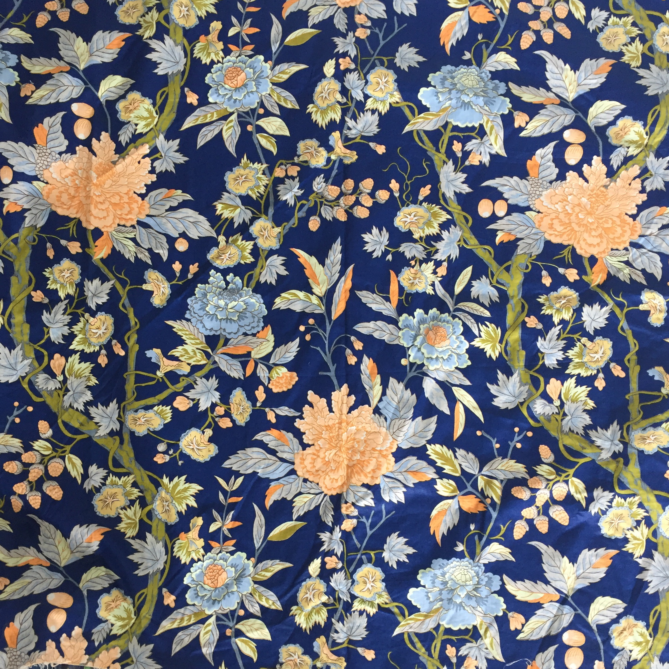 Vintage Schumacher Floral Chintz Fabric Chairish