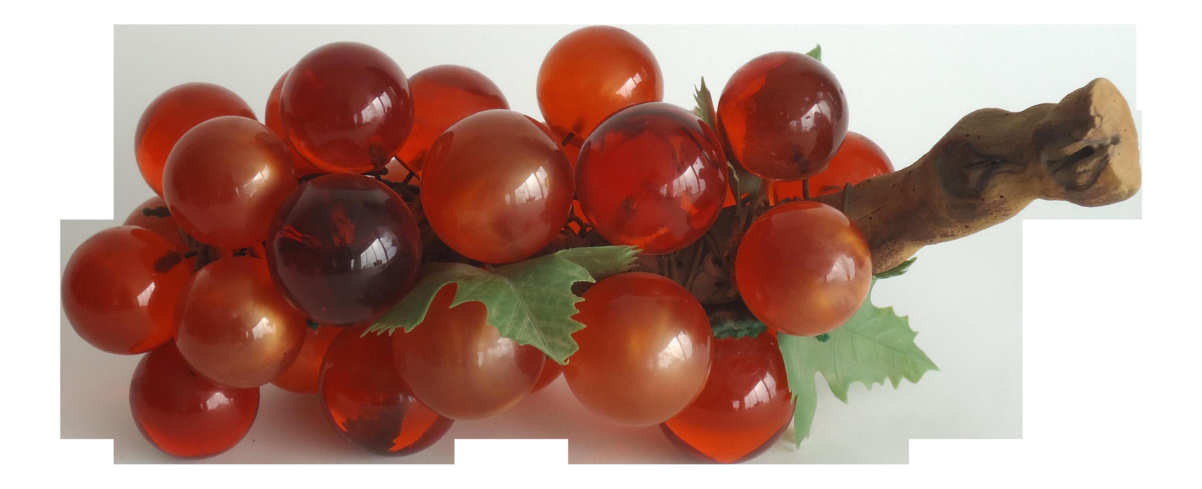 Orange Lucite Grapes On Driftwood Chairish