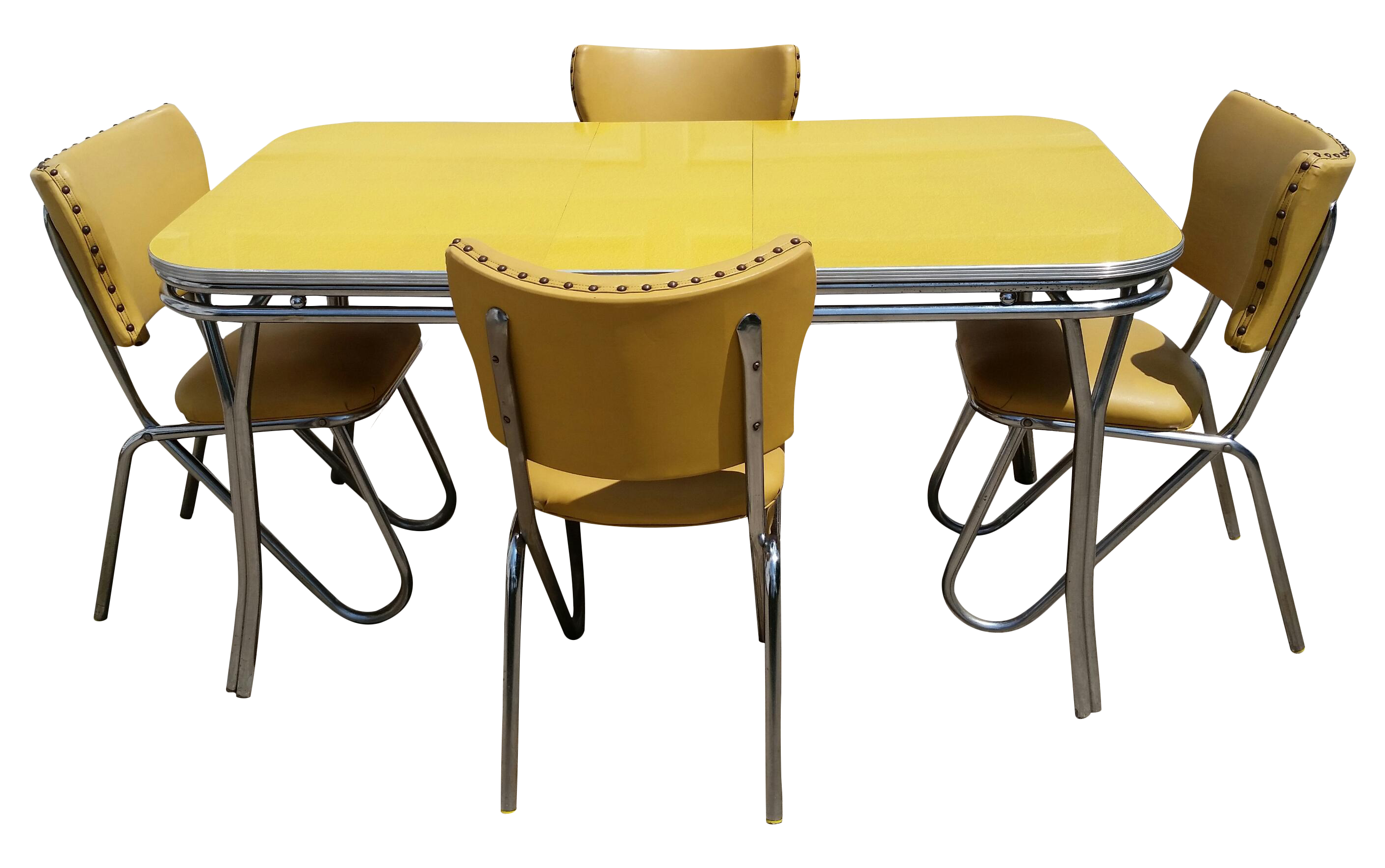 Vintage Midcentury Retro Yellow Dining Set Chairish