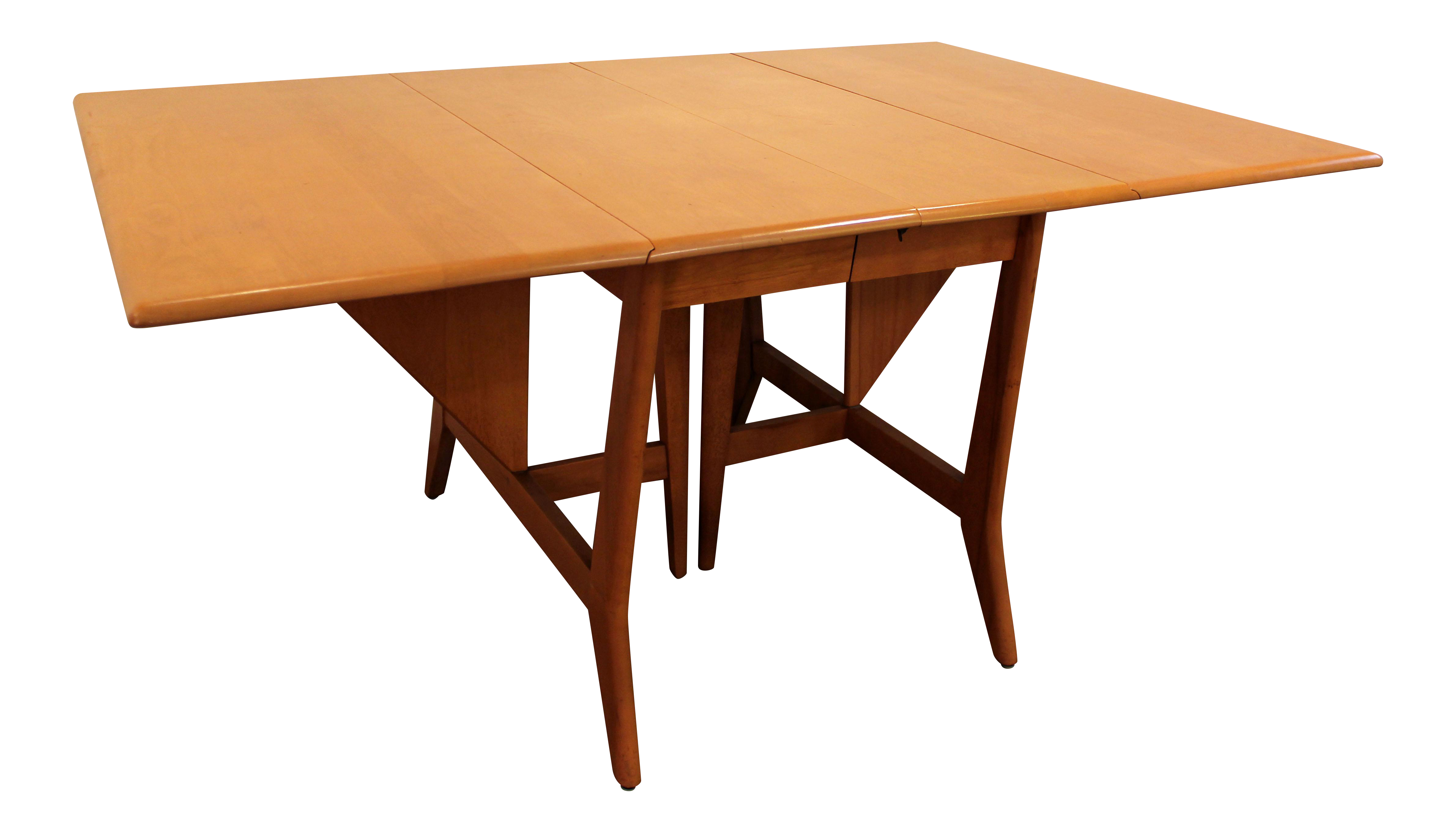 Modern Drop Leaf Dining Table Part - 32: Chairish
