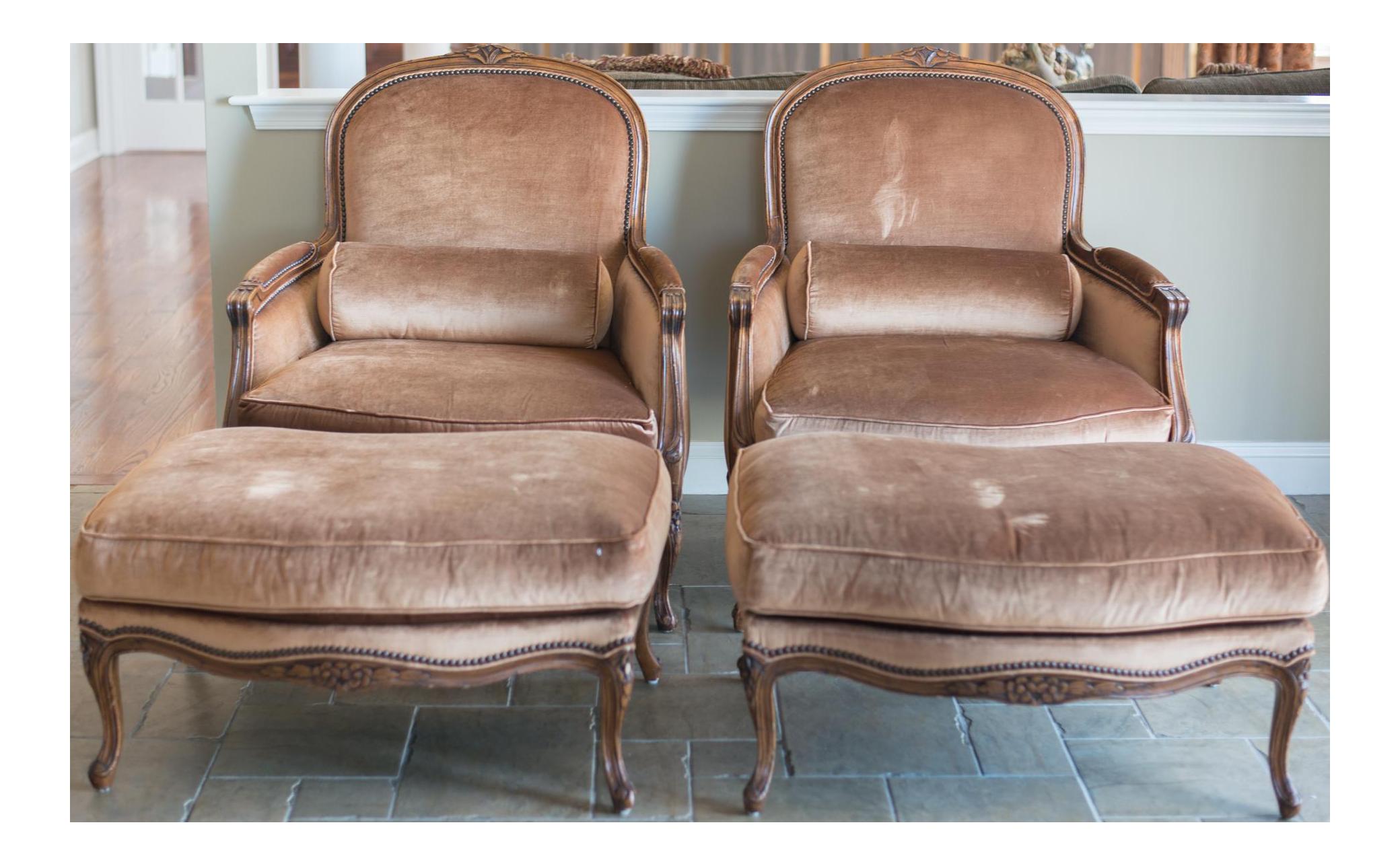 Bergere chair and ottoman - Bergere Chair And Ottoman 40