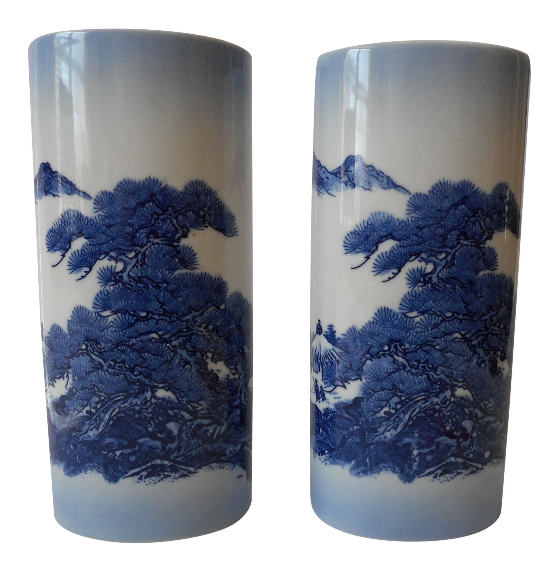 Hand painted japanese vases a pair chairish reviewsmspy