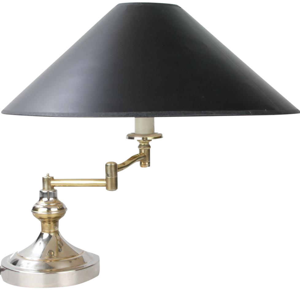 Fine heyco brass swing arm table lamp decaso geotapseo Gallery