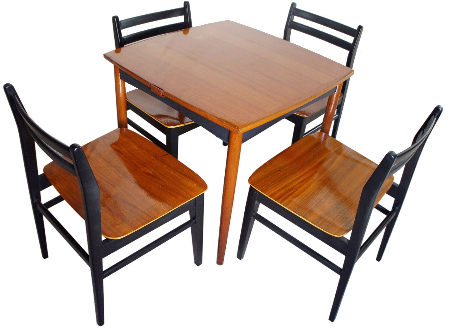 Danish modern game table set chairish for Contemporary game table and chairs