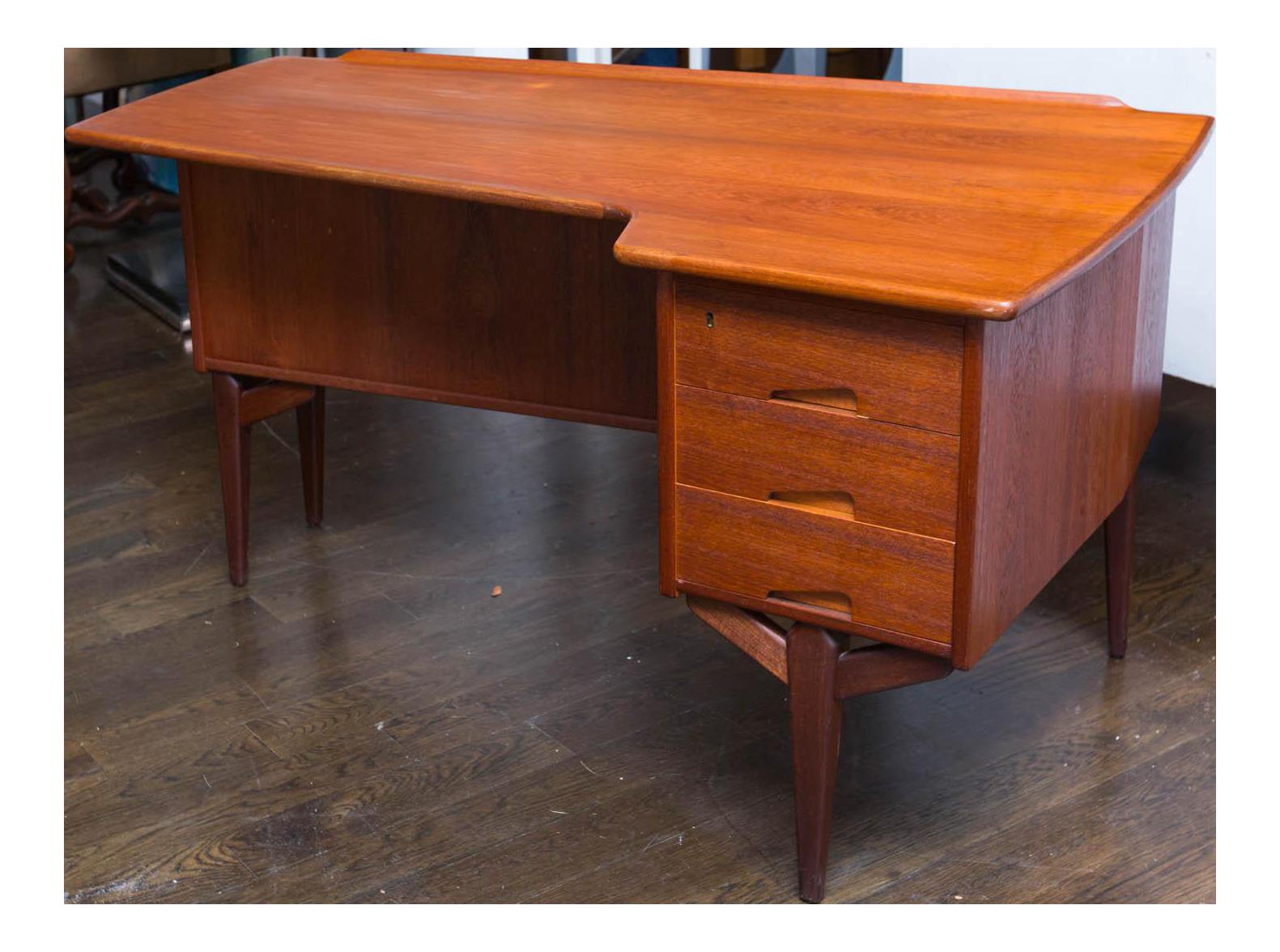 Rare Arne Vodder Teak Boomerang Desk Chairish