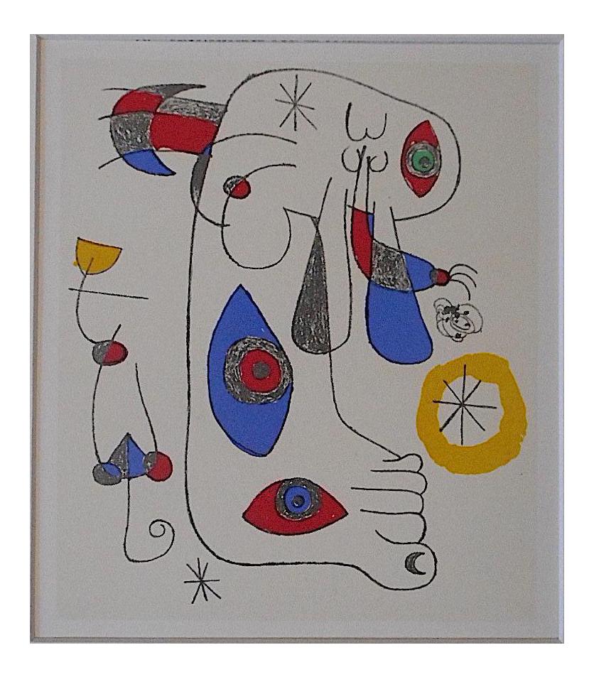 Vintage Joan Miro Abstract Lithograph Chairish