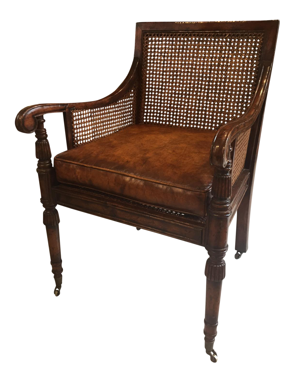 Antique Mahogany Cane Back Chair