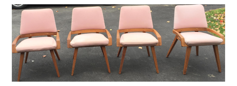 John Keal by Brown Saltzman Dining Room Chairs Set of 4