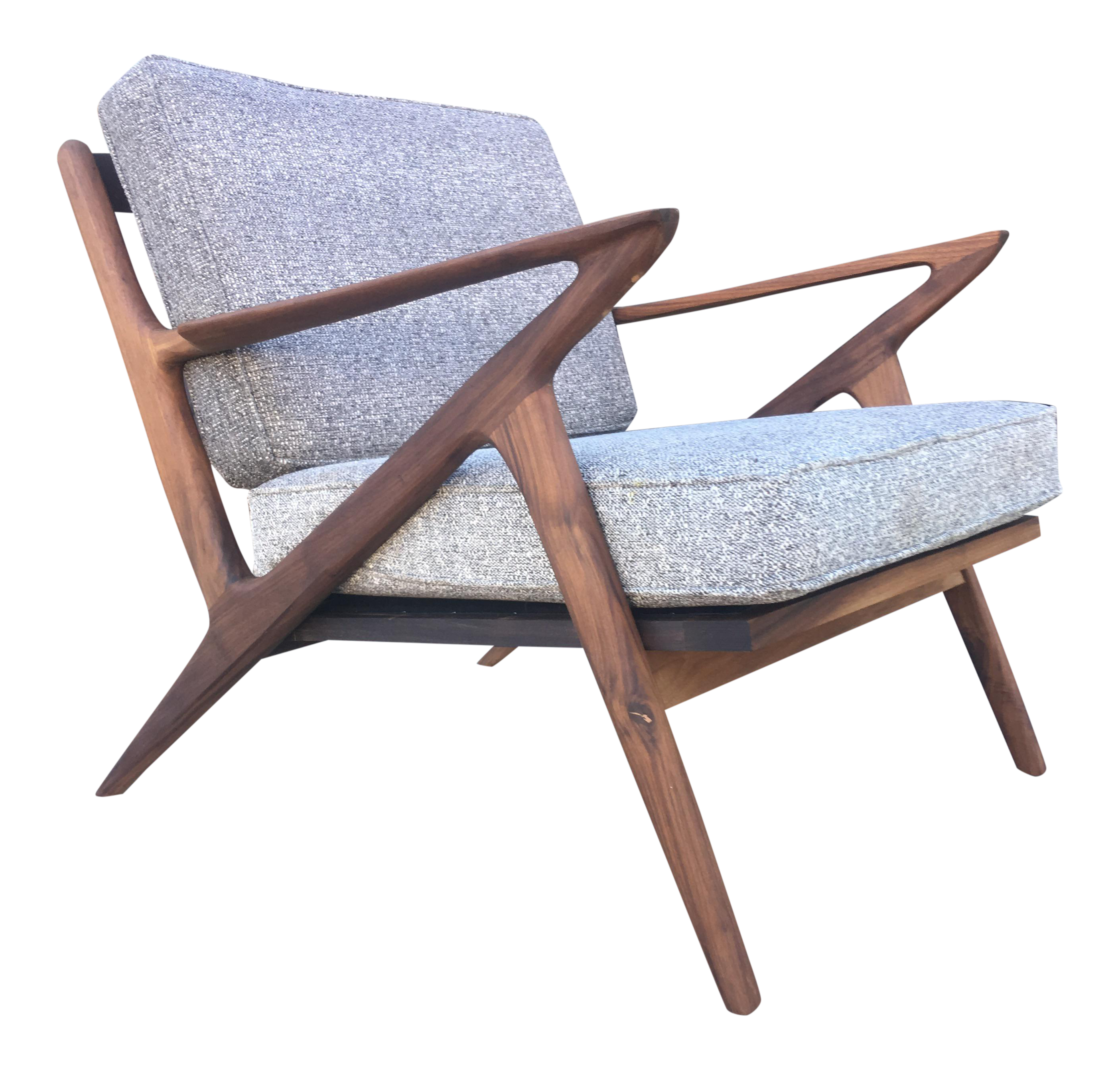 Mid century modern z chair chairish for Z chair mid century