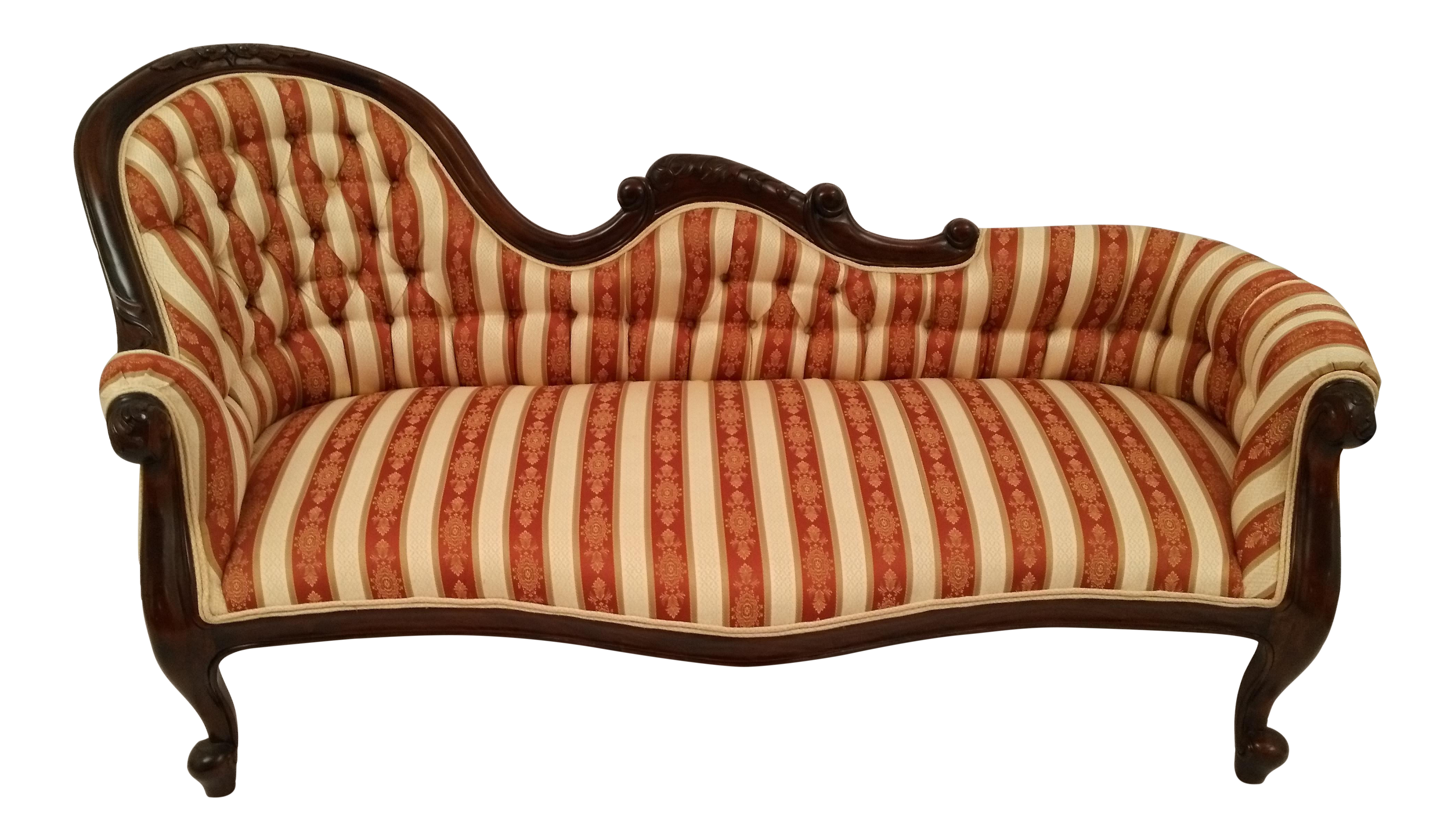 Laurel Crown Victorian Style Single End Sofa