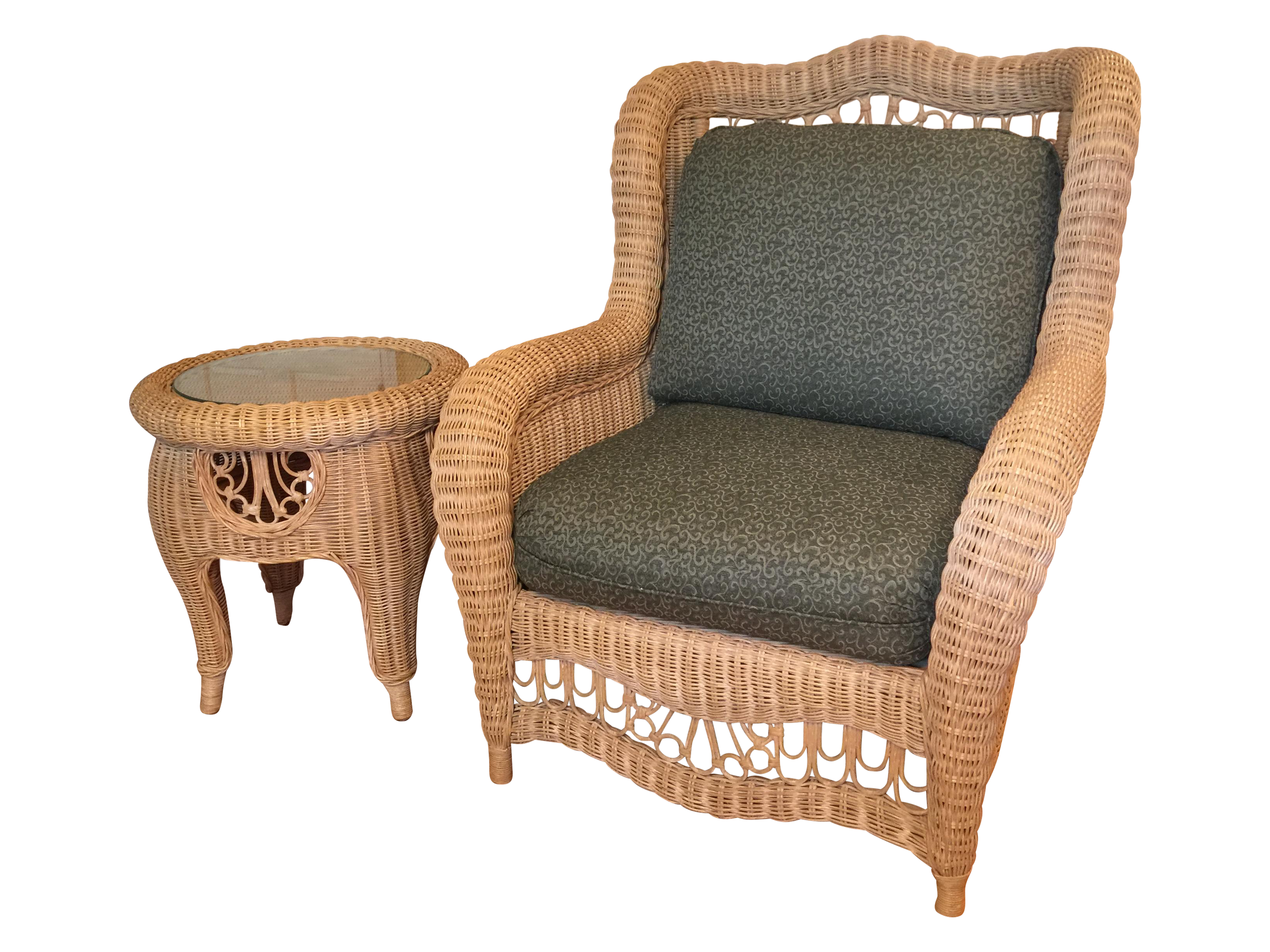 Ethan Allen Indoor Wicker Furniture Patio