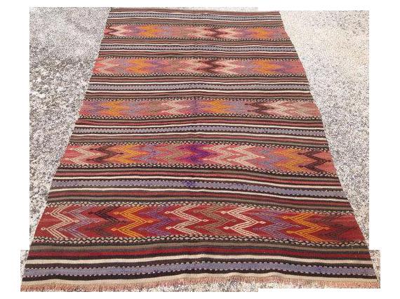 Vintage Turkish Kilim Rug 4 8 215 7 10 Chairish
