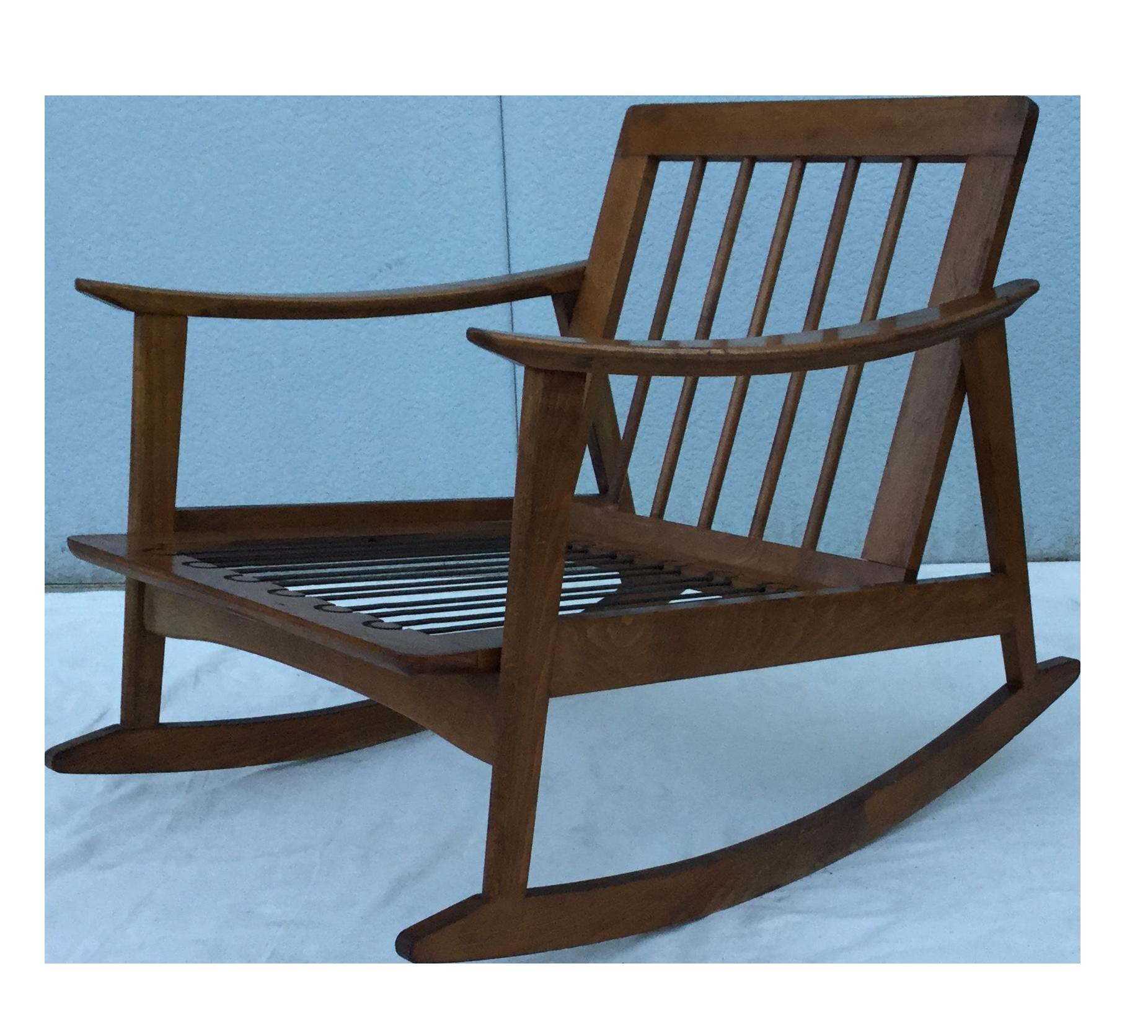 vintage 1960s modern danish style rocking chair chairish