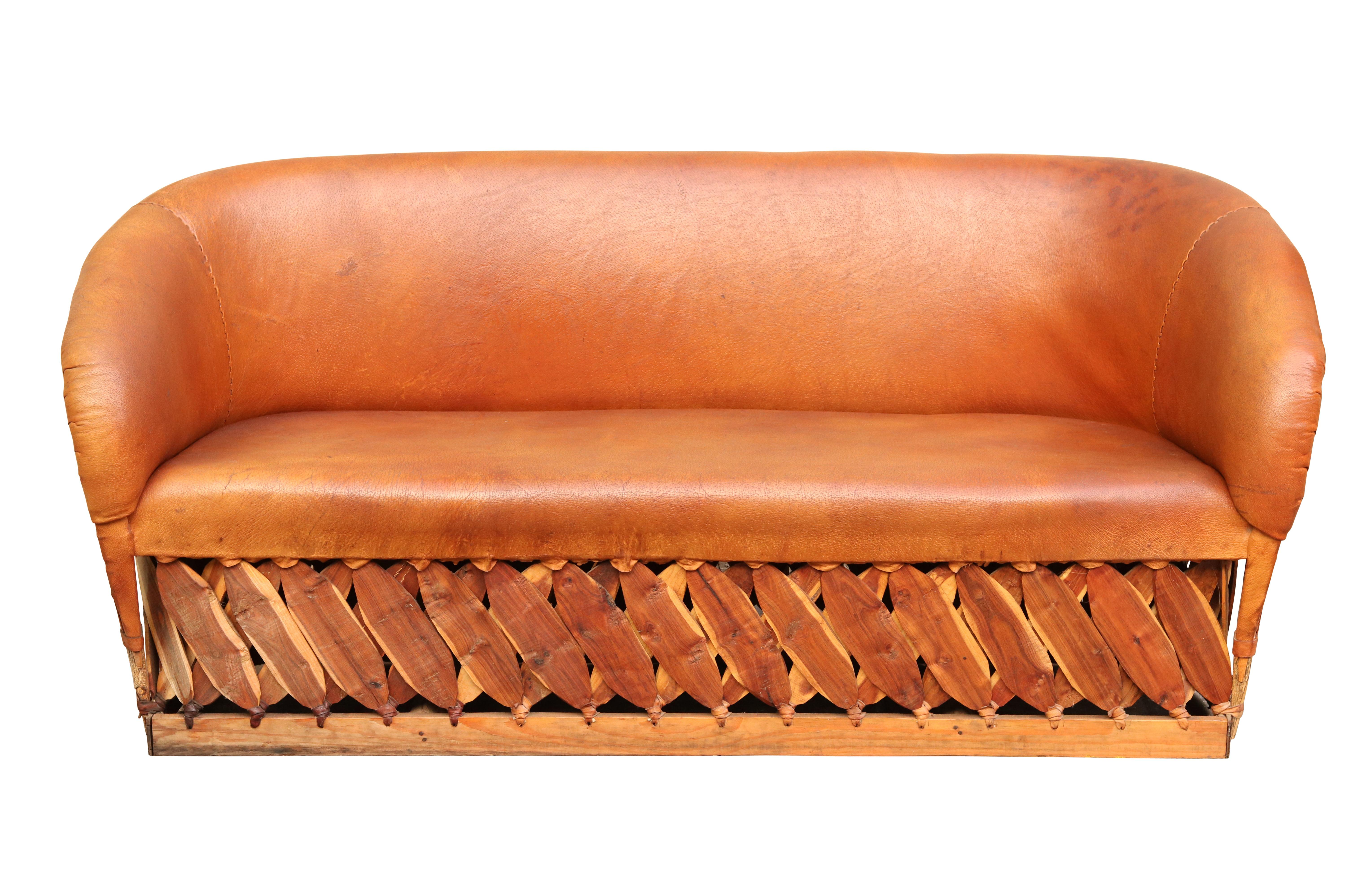 Burnt Orange Leather Equipale Sofa Chairish