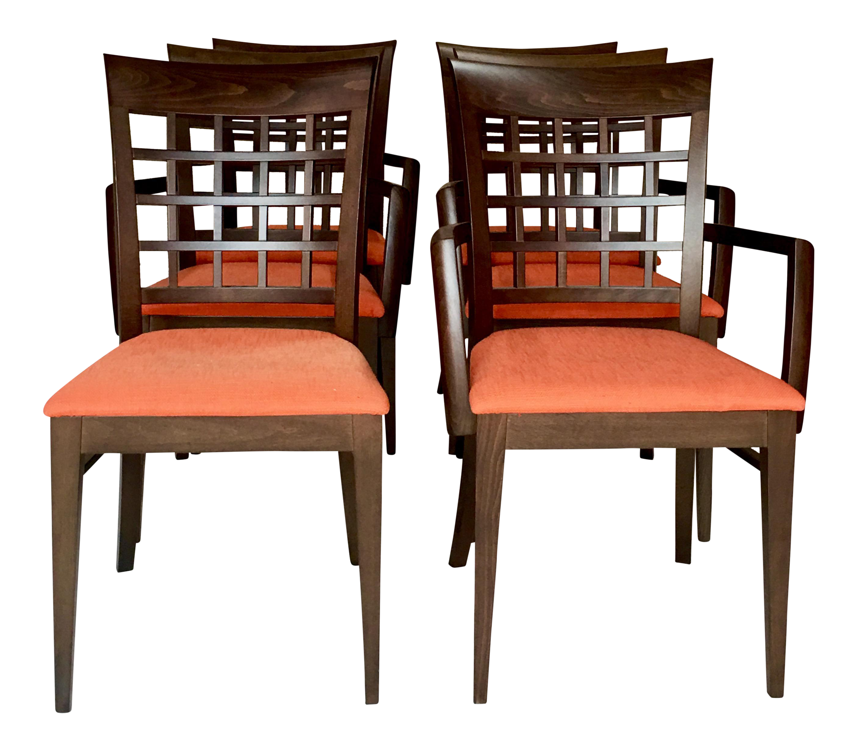 modern italian roche bobois chairs set of 6 chairish