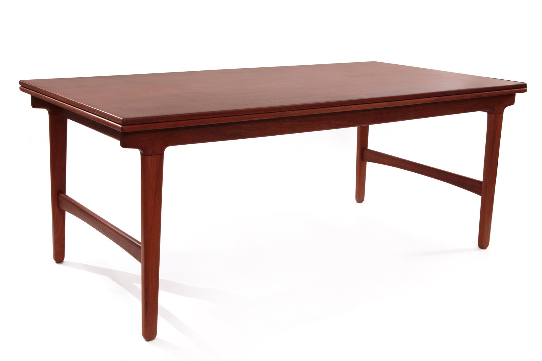 Rare hans wegner a p stolen dining table chairish for Table th 00 02