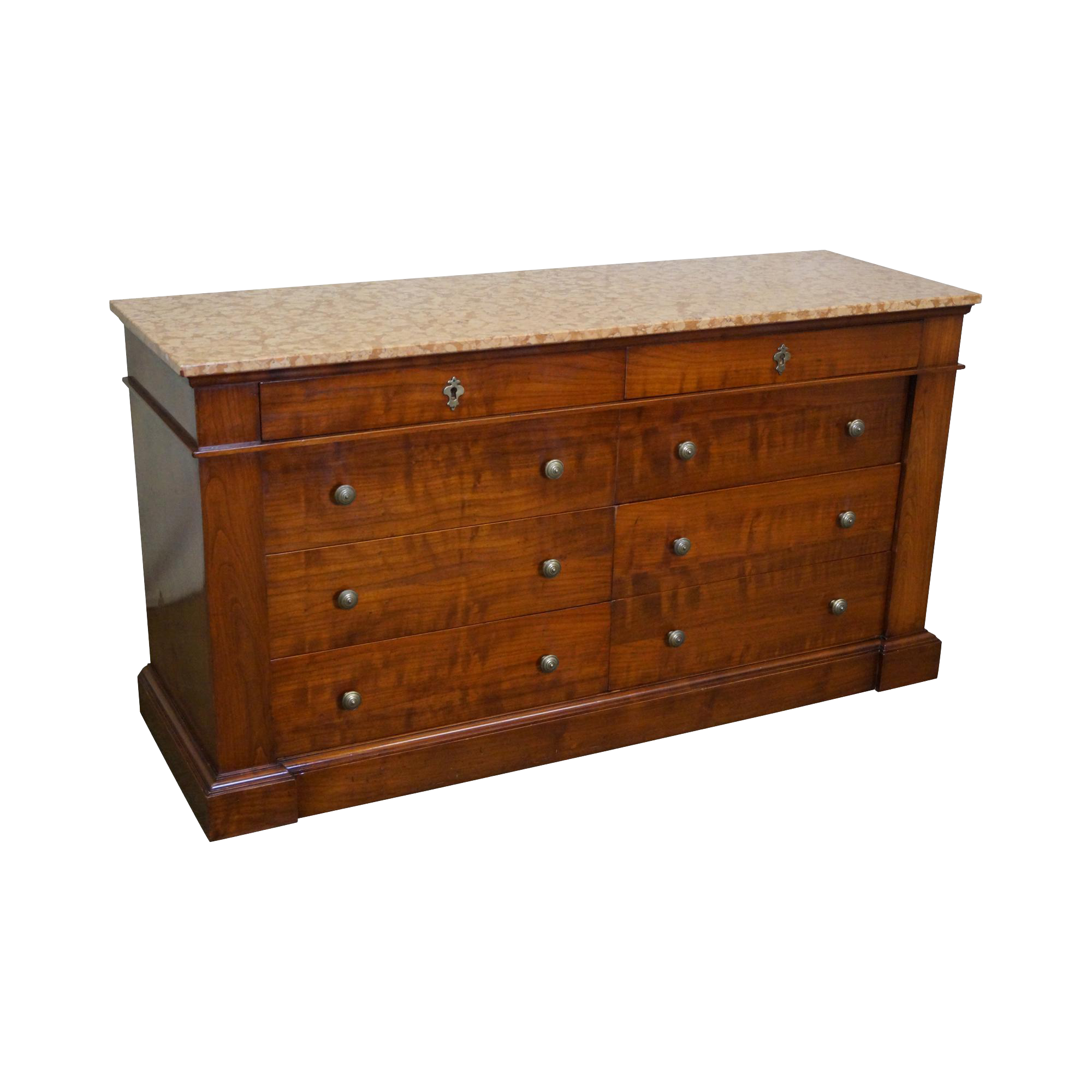 Bloomingdale's Italian Marble Top Cherry Wood Dresser ...
