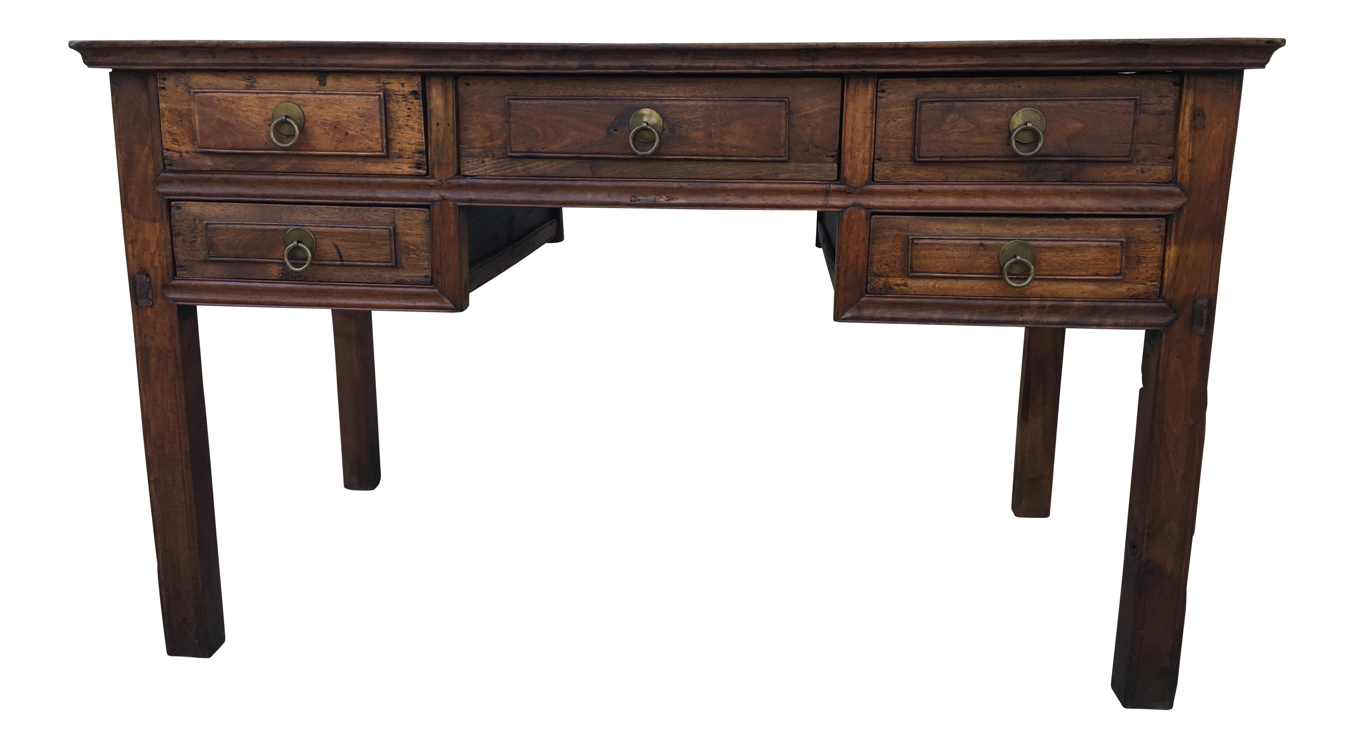 wooden writing desk Shop our selection of writing desk, desks in the furniture department at the   weathered gray solid wood desk  white hairpin leg wood writing desk.