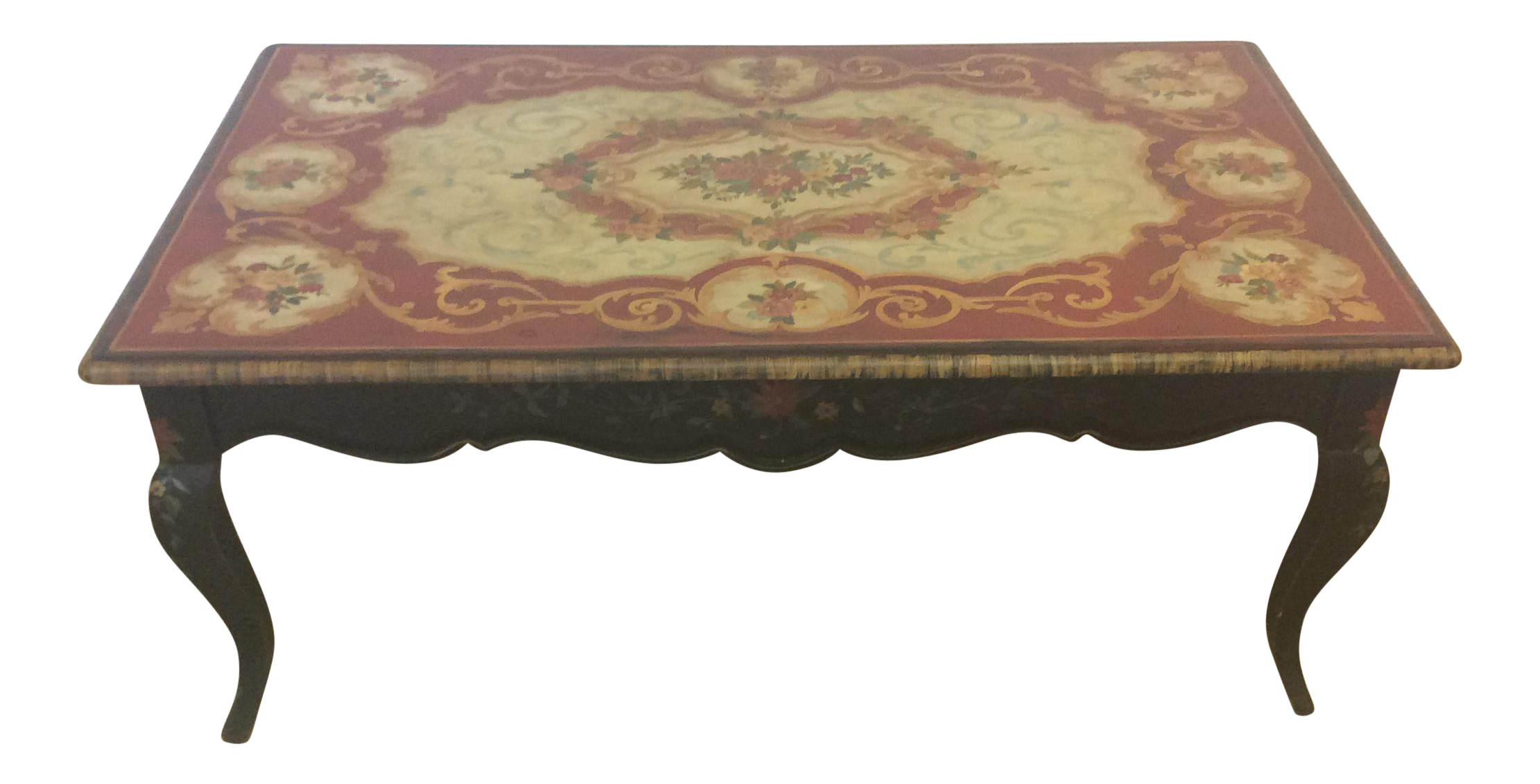Maitland Smith Coffee Table Hand Painted By Artist