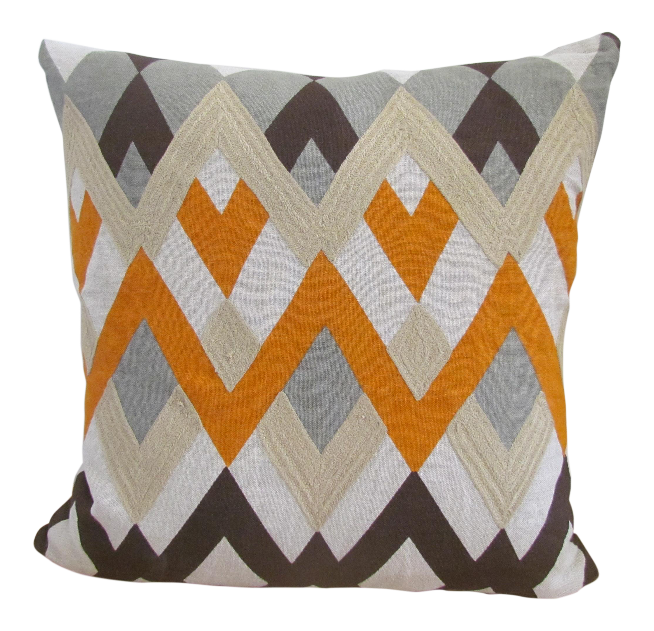 Modern Orange Pillow : Modern Orange & White Accent Pillow Chairish