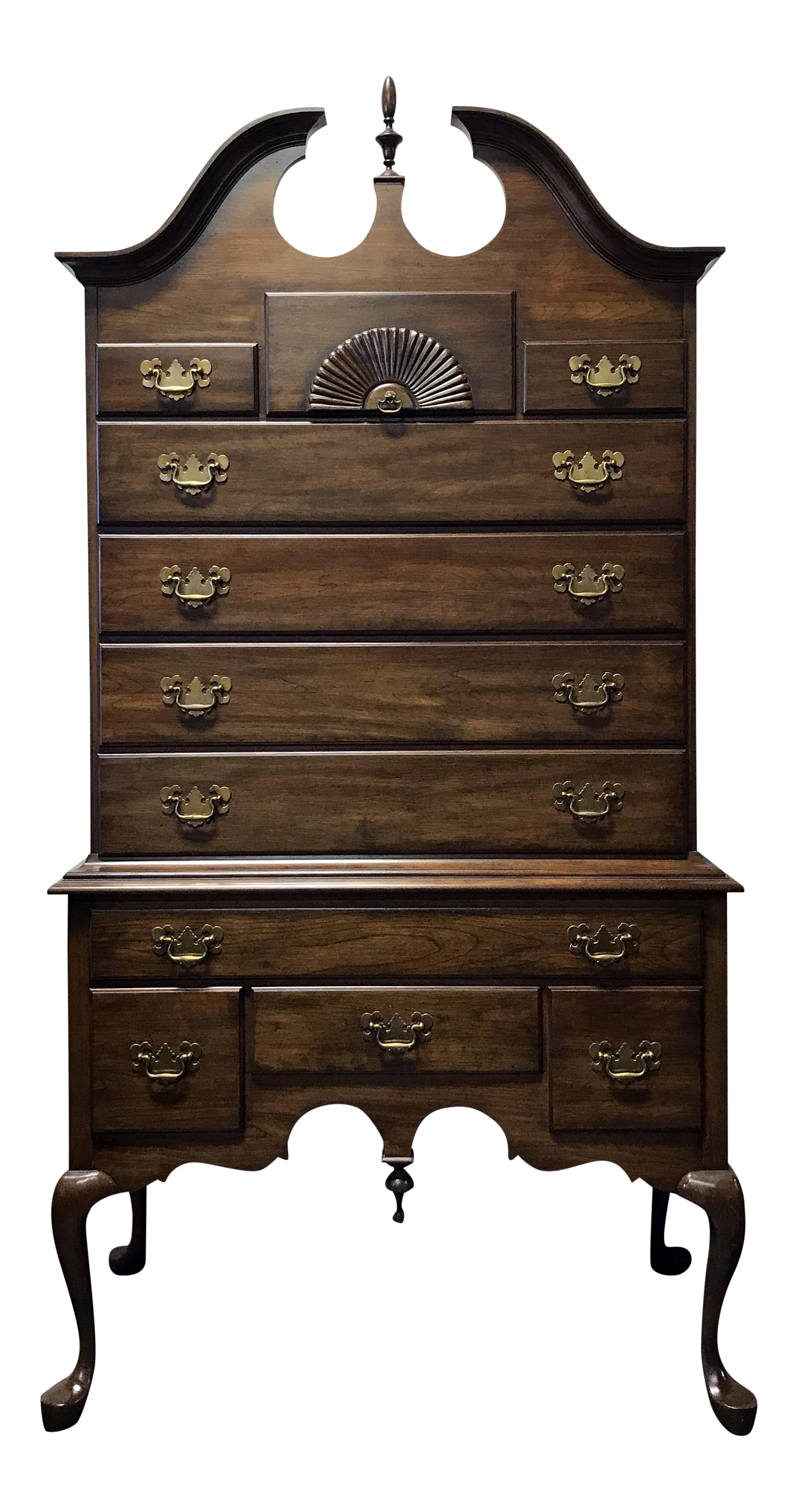 Pennsylvania House Solid Cherry Queen Anne Highboy Chest