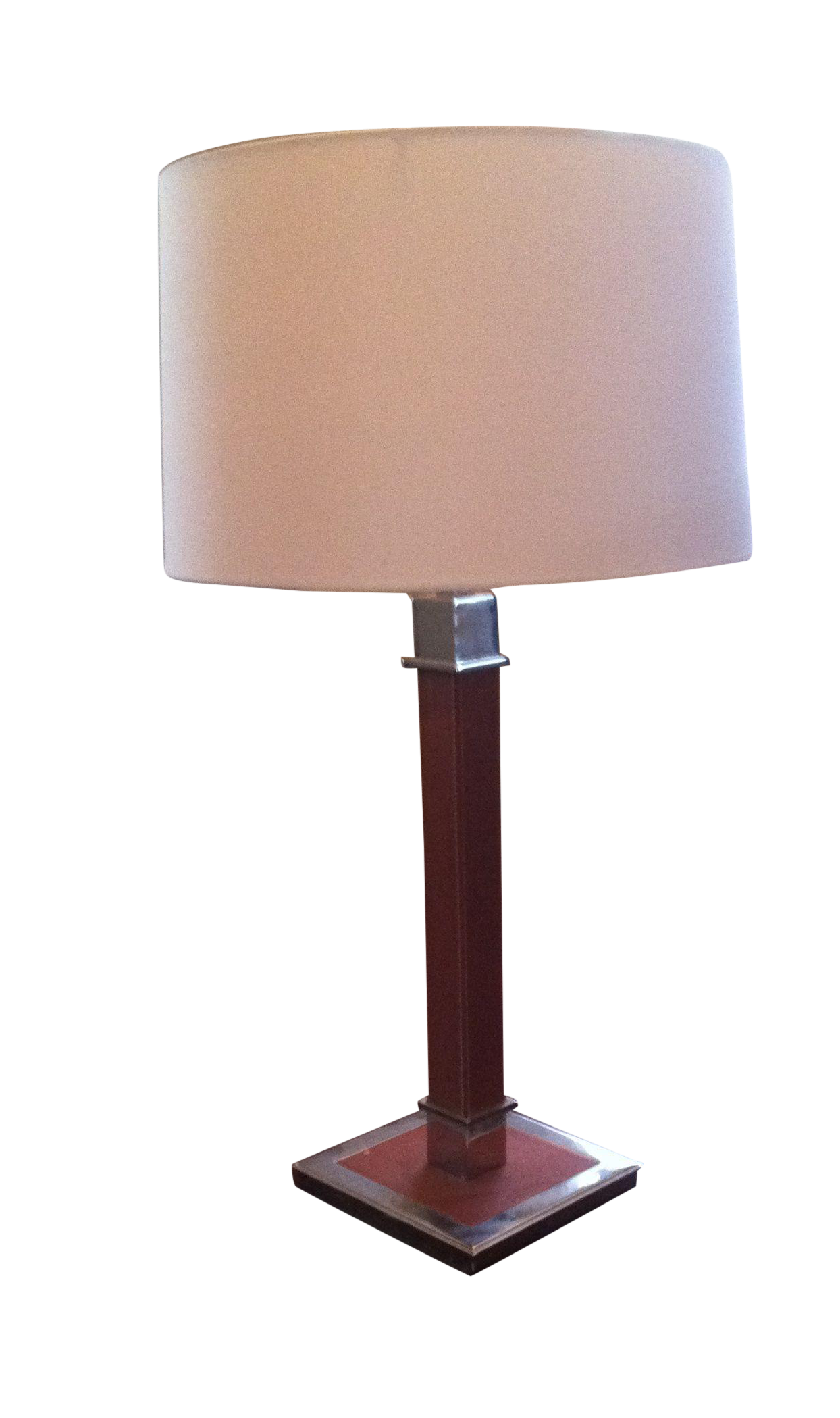 Ralph Lauren Saddle Leather And Chrome Table Lamp Chairish