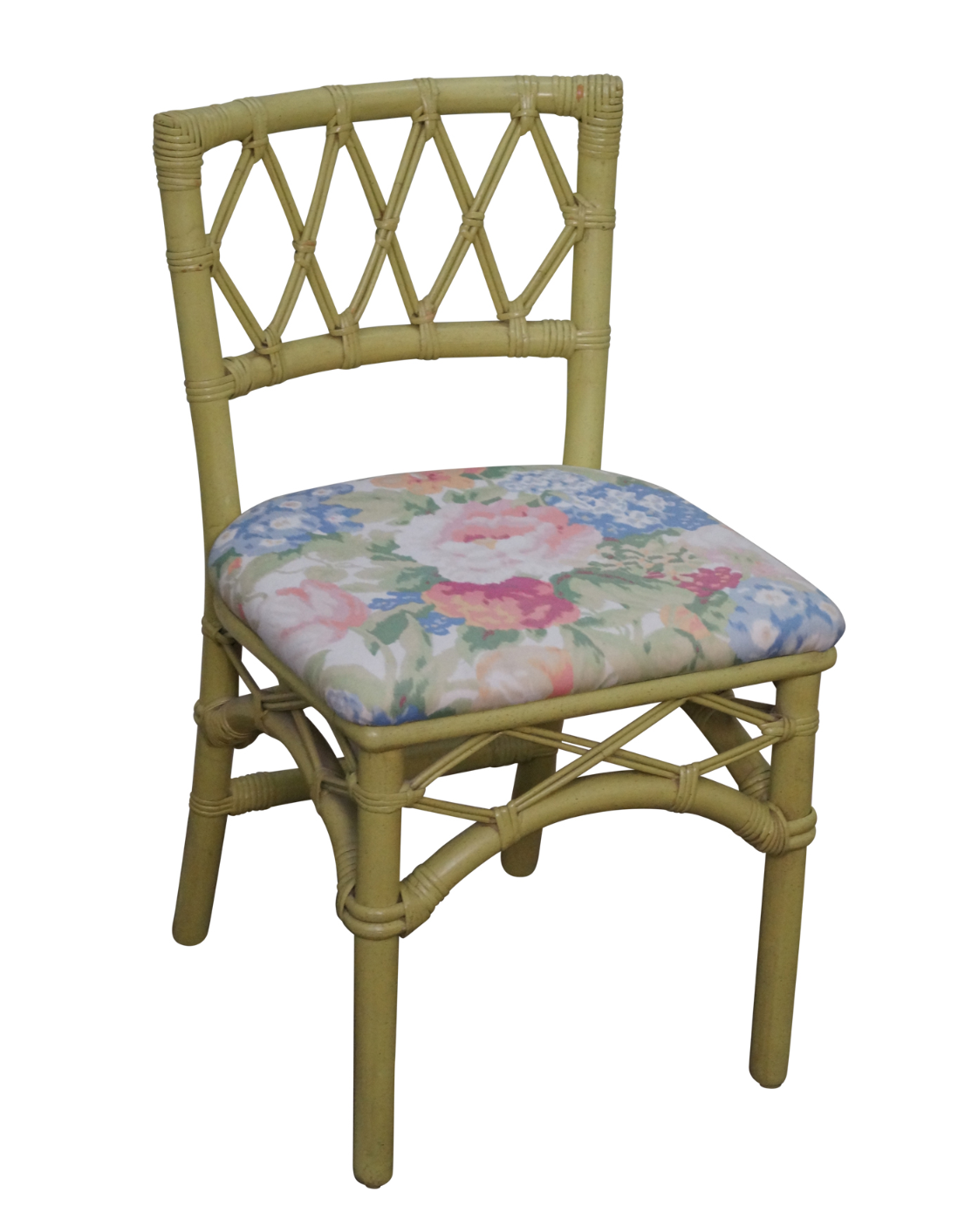 Ficks Reed Vintage Painted Rattan Side Chair Chairish