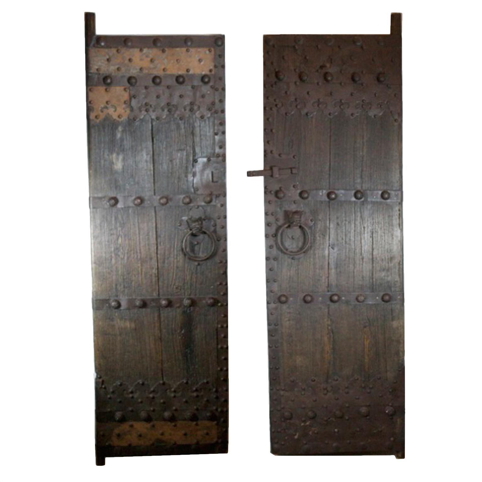 1536 #3B322A Late 19th Century Chinese Garden Gate Doors Pair Chairish wallpaper 3ft French Doors 46651536