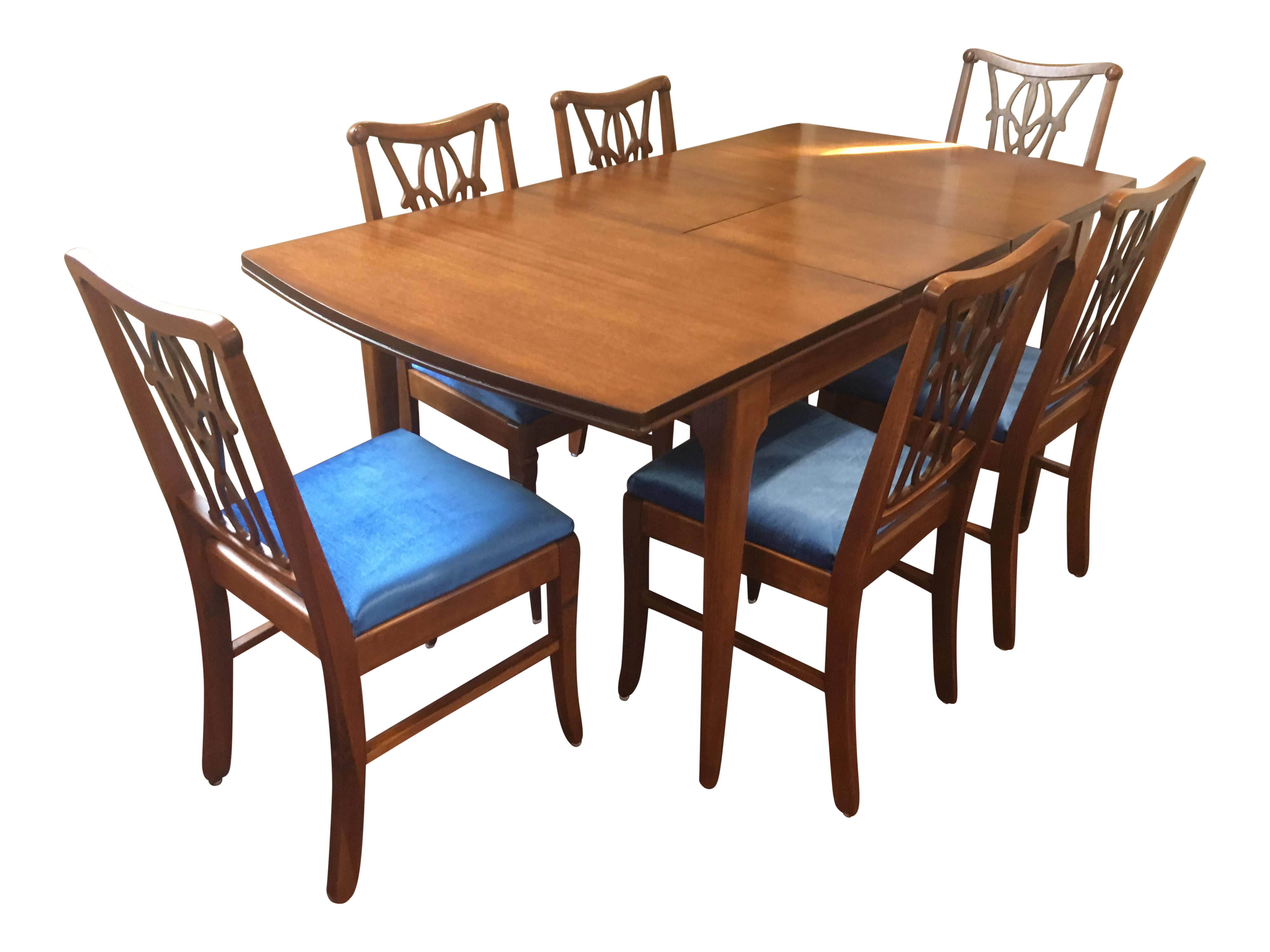 1 Dining Table Amp 6 Fleur De Lis Chairs In Mahogany Set