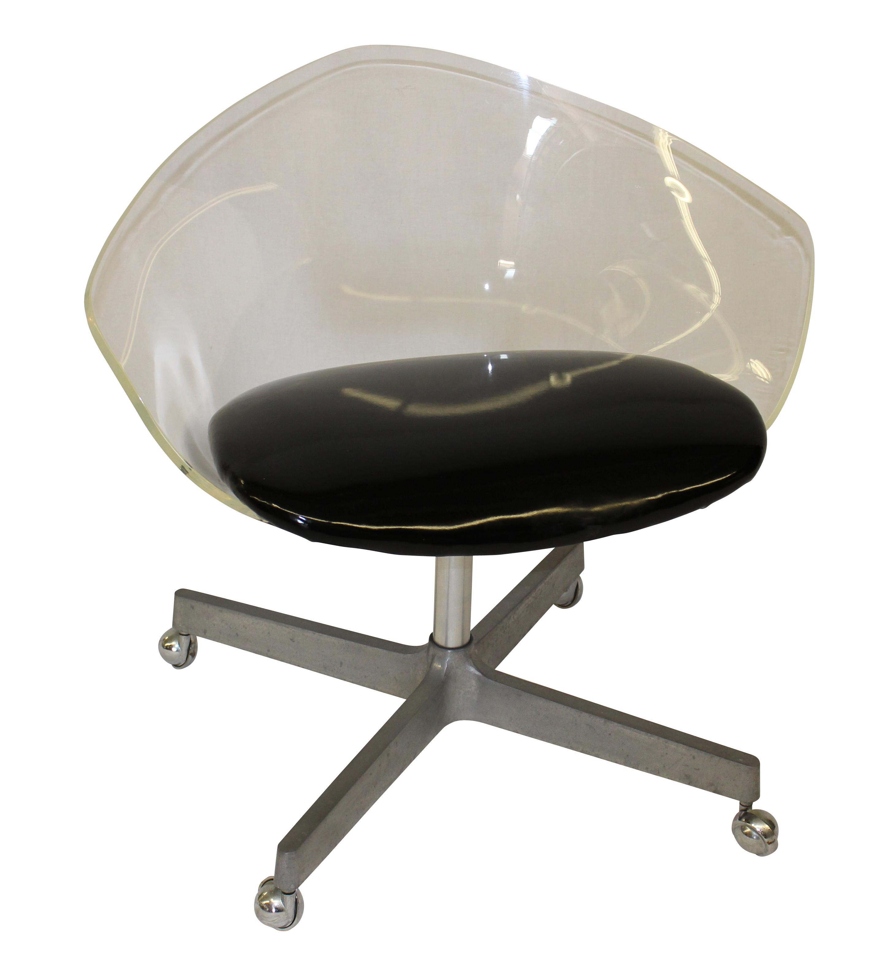 Mid Century Modern Jansko Lucite and Vinyl Chair