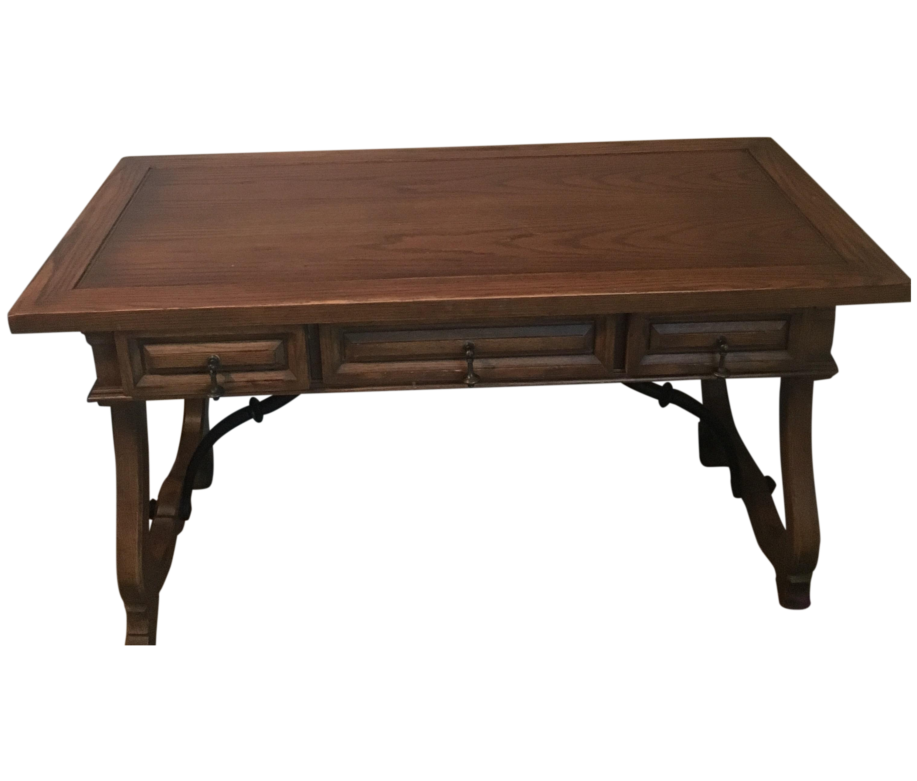 Hekman Spanish Trestle Desk Writing Table