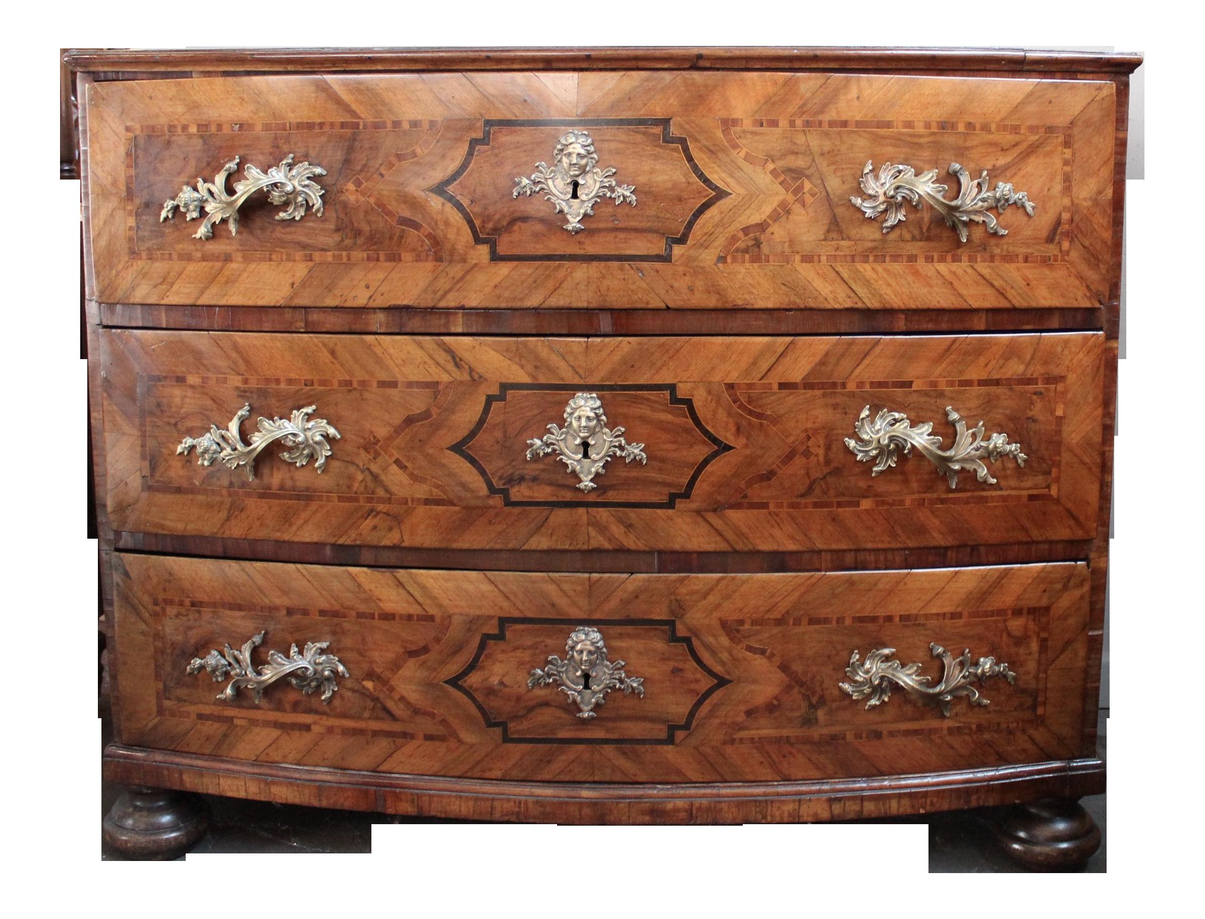 Antique 1750 baroque walnut commode chairish - Commode baroque a peindre ...