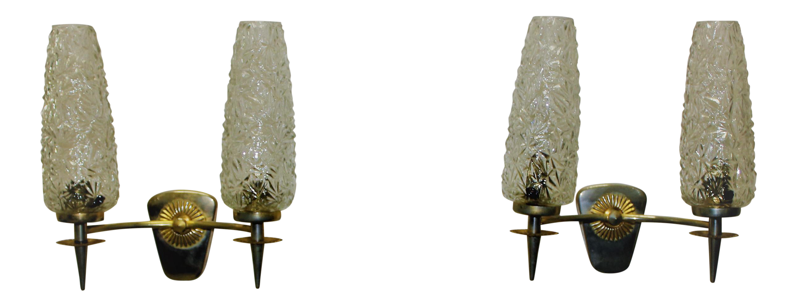 Circa 1960s french art deco vintage maison lunel sconces for Deco maison retro