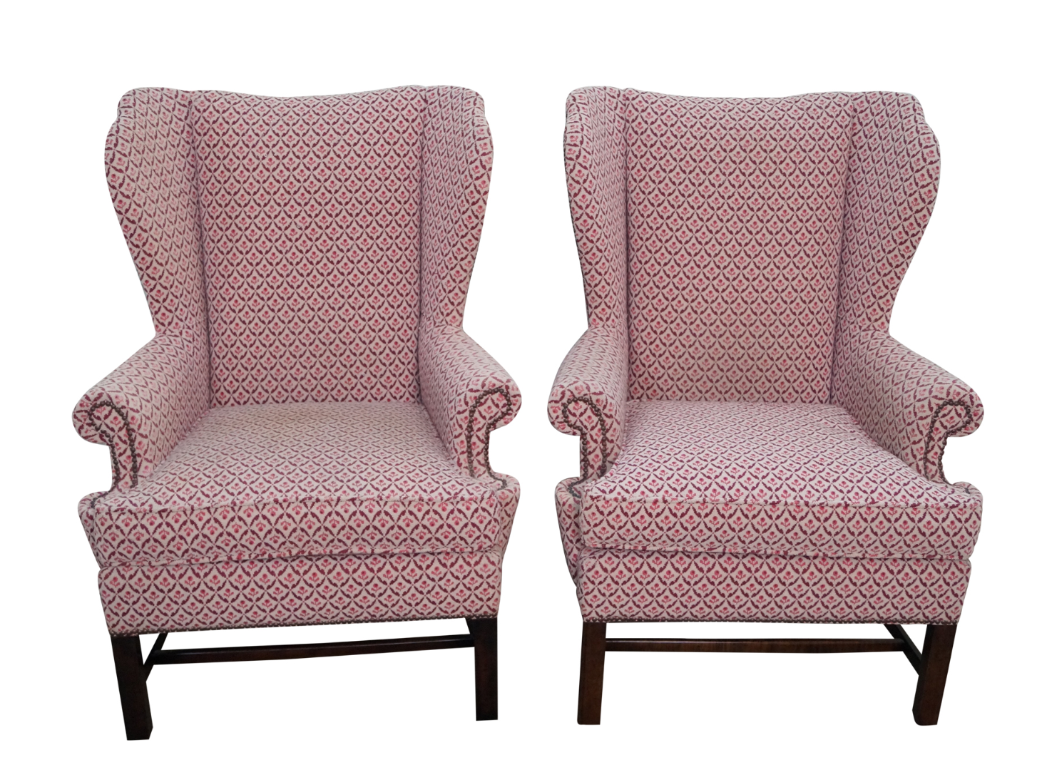 Baker Chippendale Style Wing Chairs A Pair Chairish