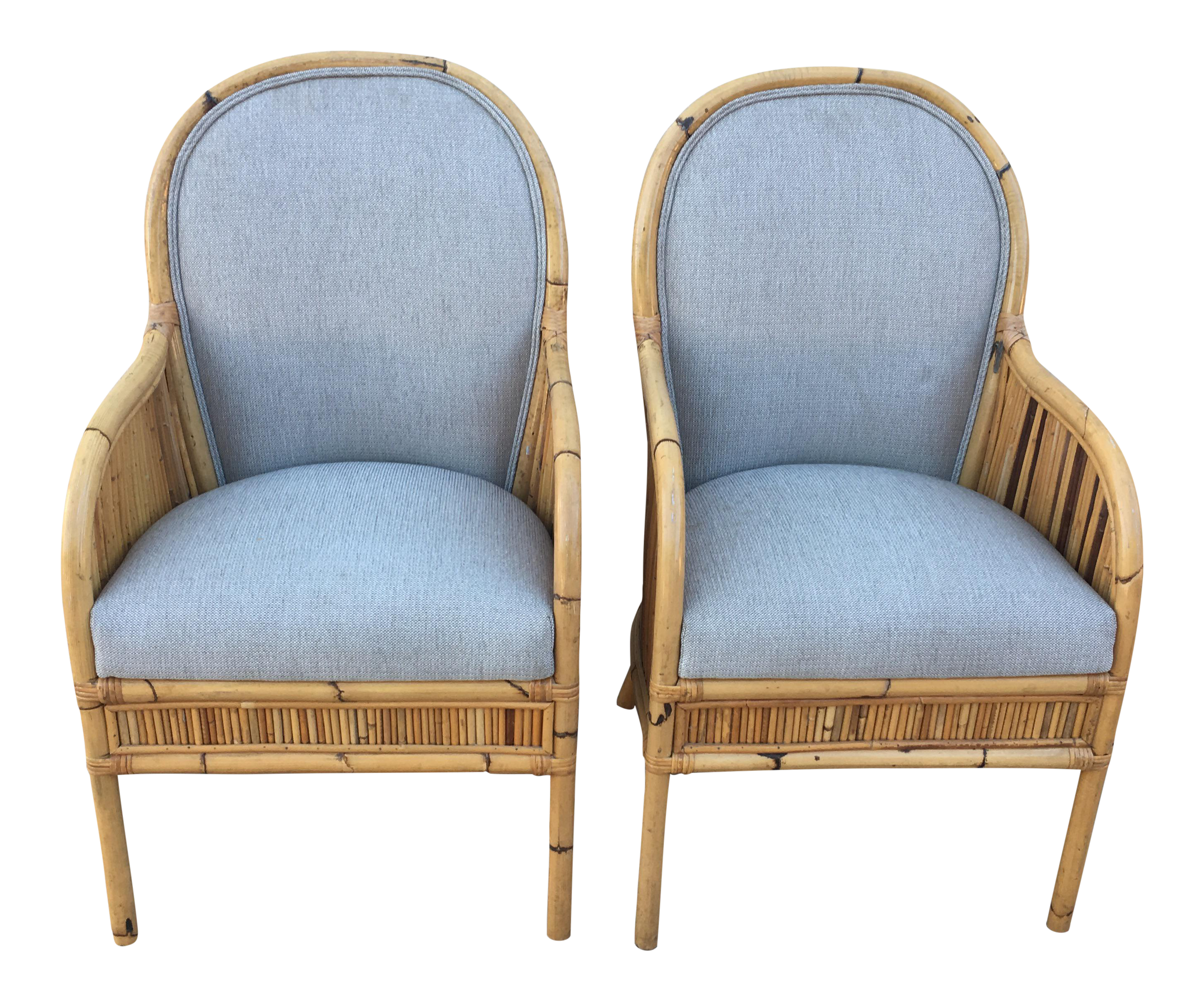 Bamboo arm chairs - Image Of Boho Henry Olko Bamboo Arm Chairs A Pair