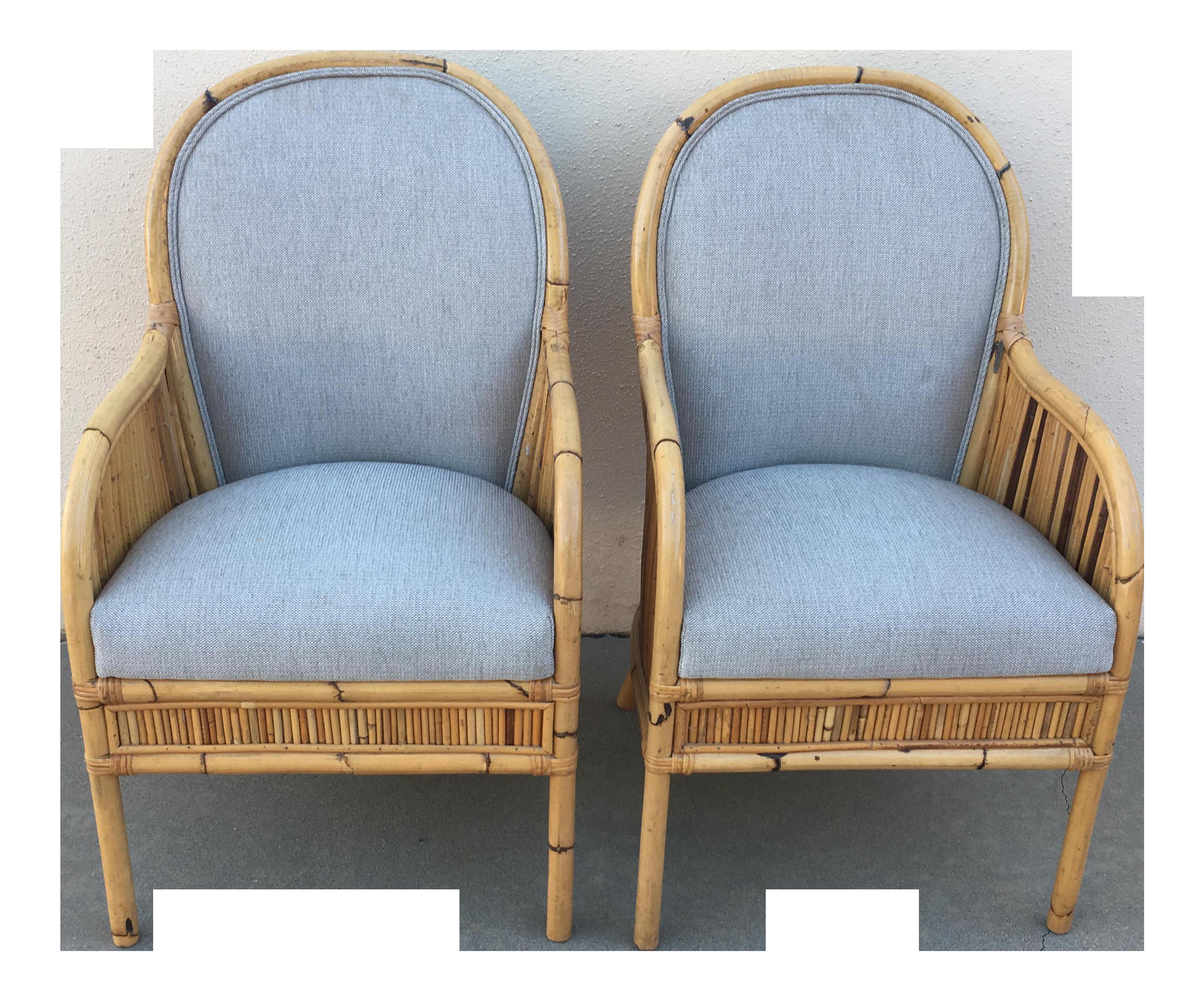 Boho Henry Olko Bamboo Arm Chairs A Pair