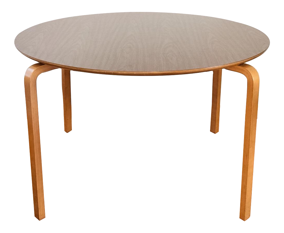 Mid century modern thonet bentwood table chairish for Table thonet