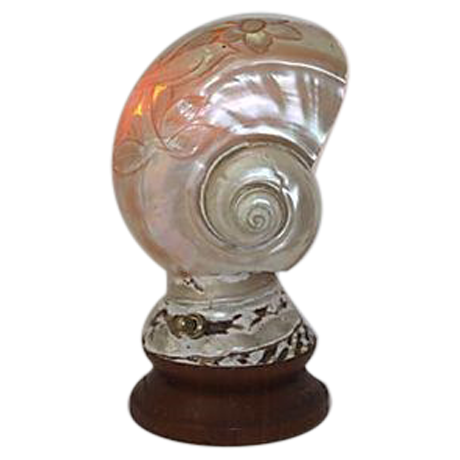 Vintage Mother Of Pearl Shell Table Lamp