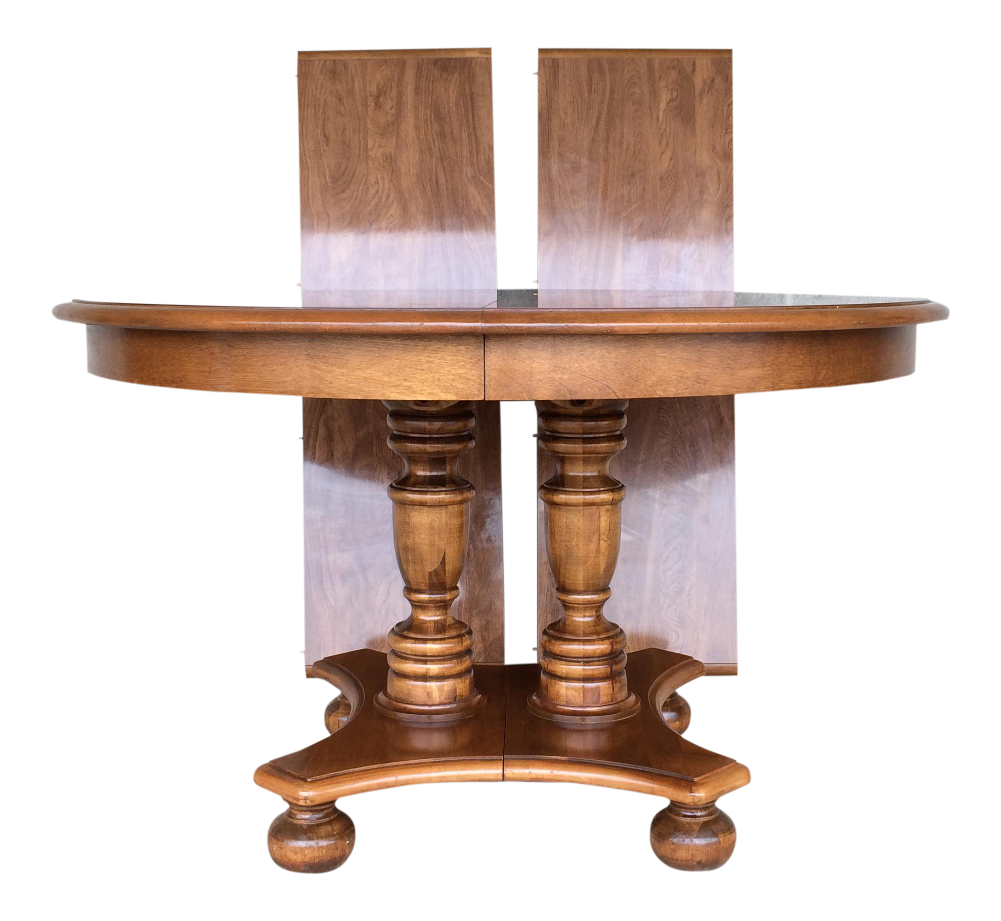 Ethan Allen Maple Pedestal Dining Table With 2 Leaves