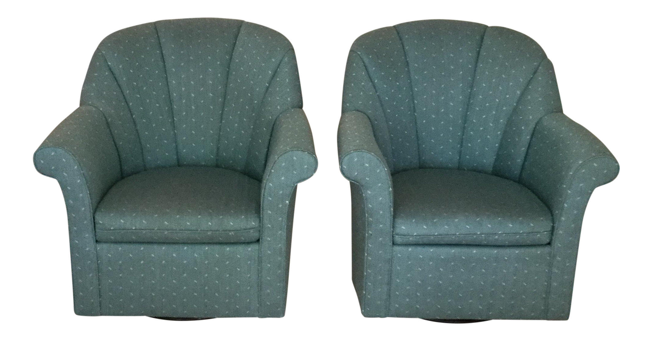 Upholstered Swivel Rocking Chairs A Pair Chairish