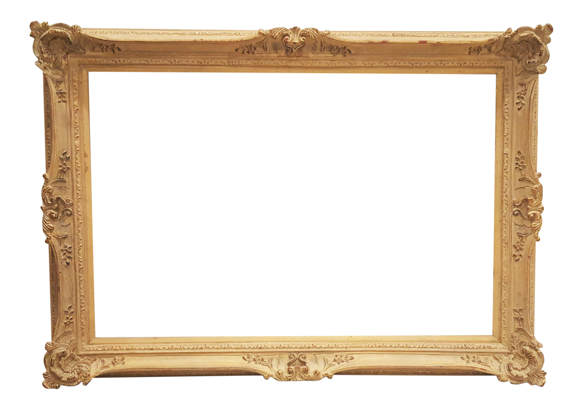 Antique wood victorian frame chairish for Victorian woodwork