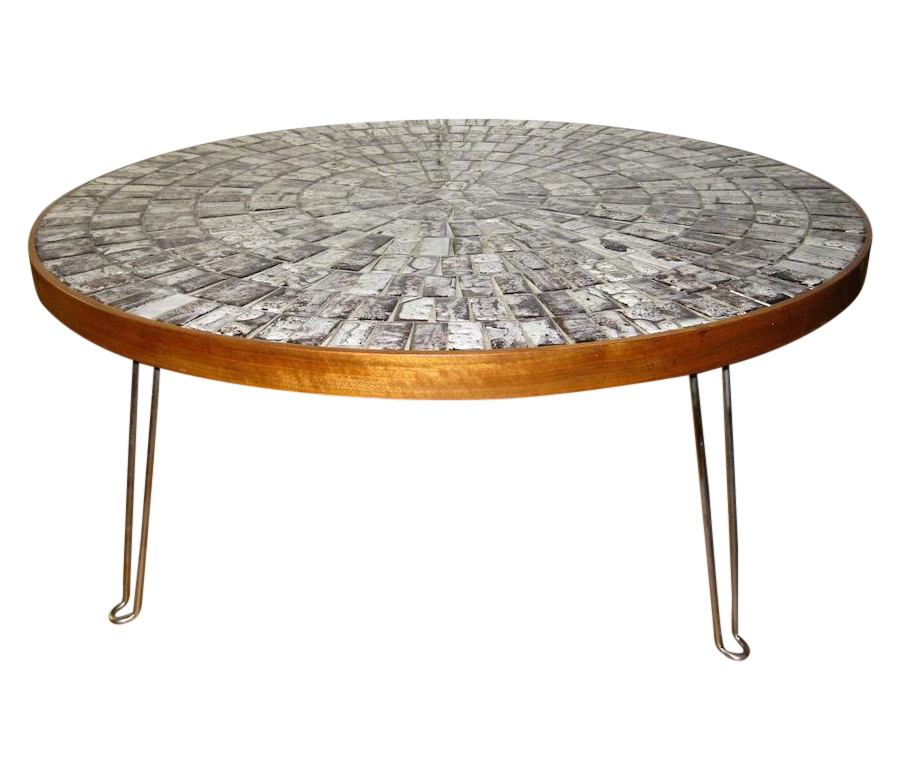 Broken Tile Coffee Table: Round Mosaic Tile Coffee Table