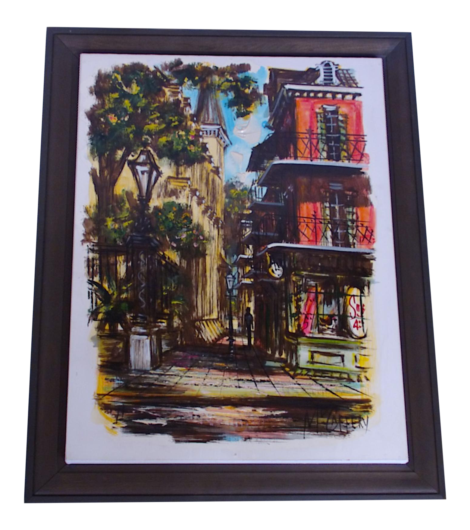 Mccaffery Signed Cityscape New Orleans Painting Chairish