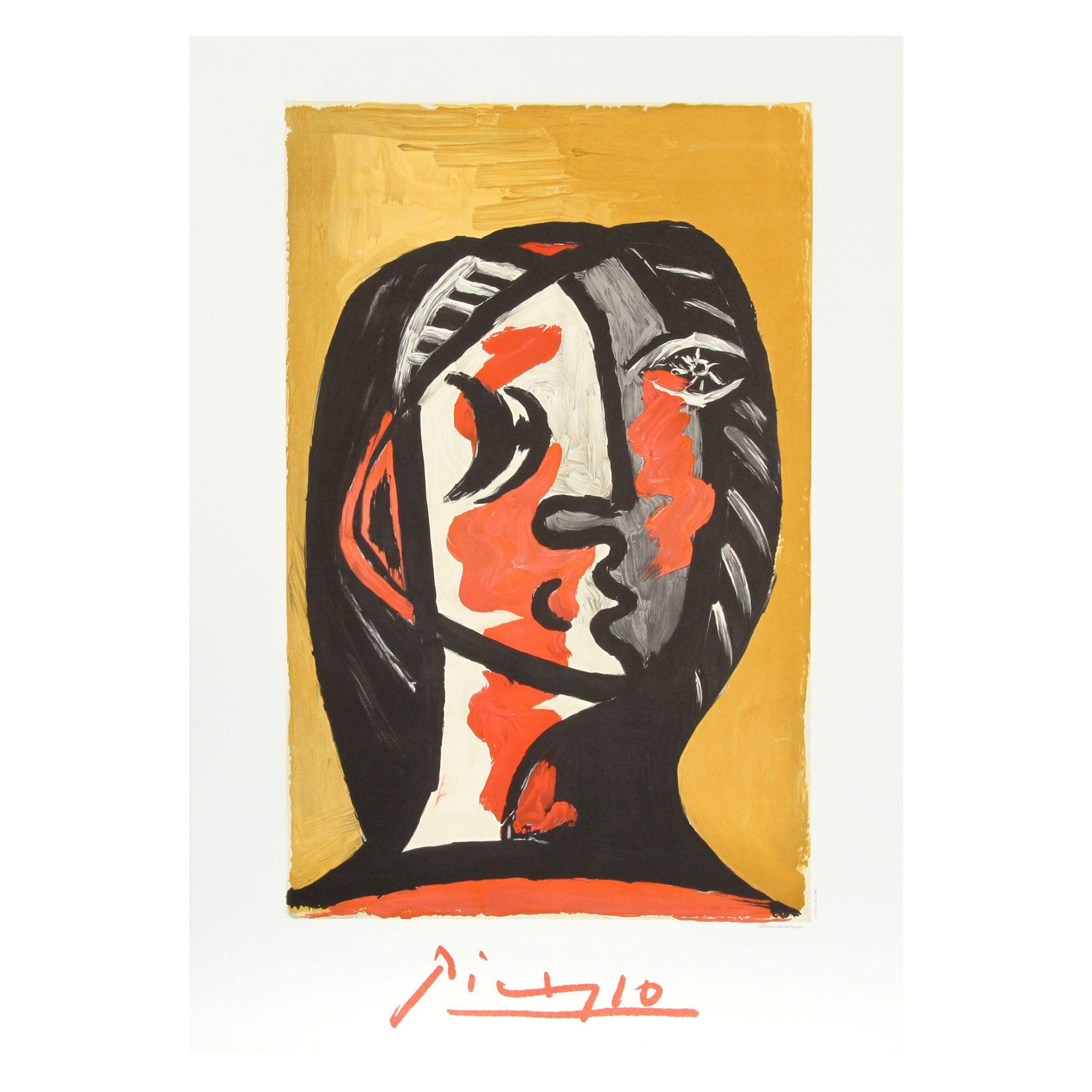 Pablo Picasso Tete De Femme En Gris Et Rouge Sur Chairish